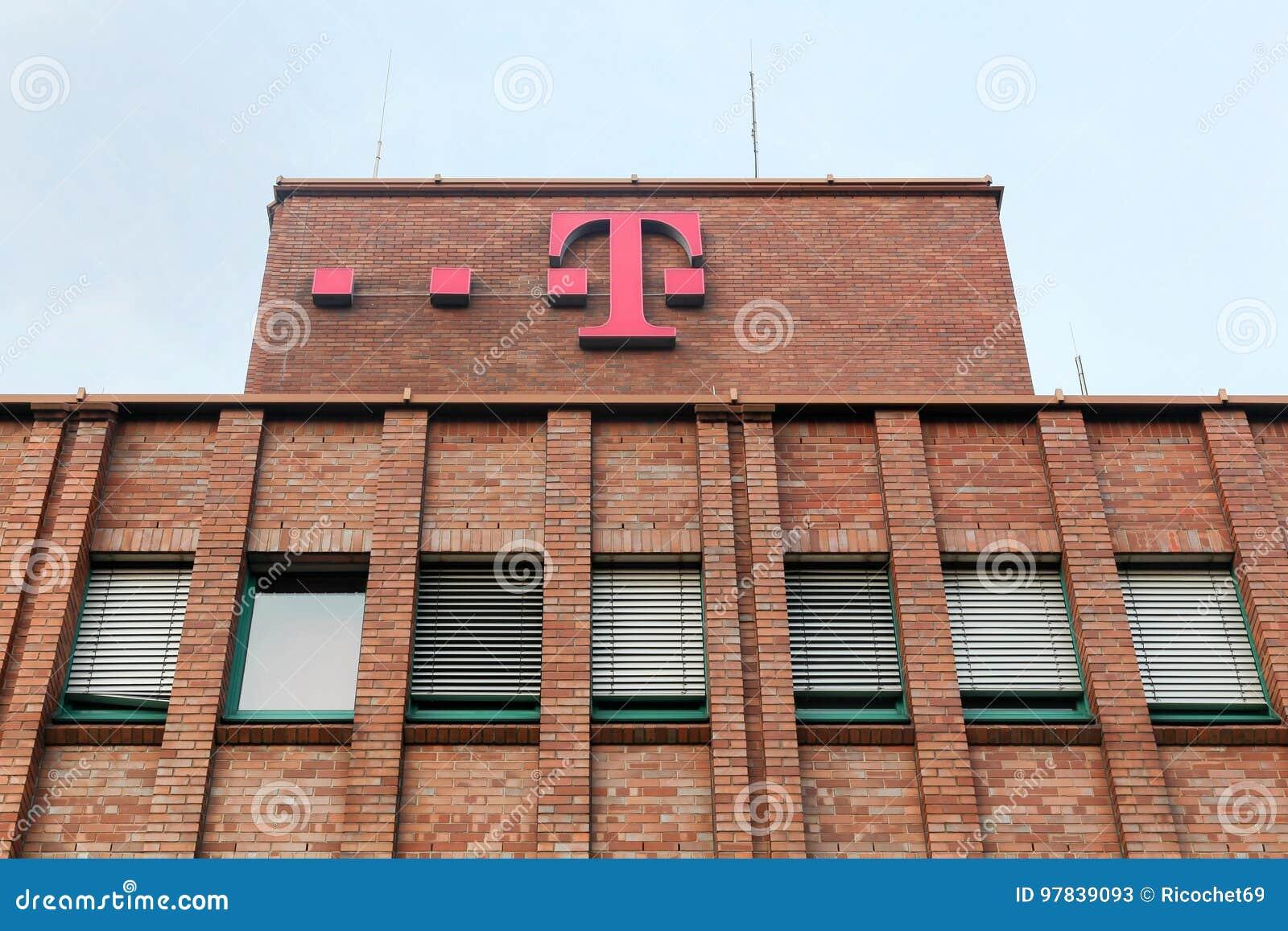 De bouw en het bureau van Deutsche Telekom