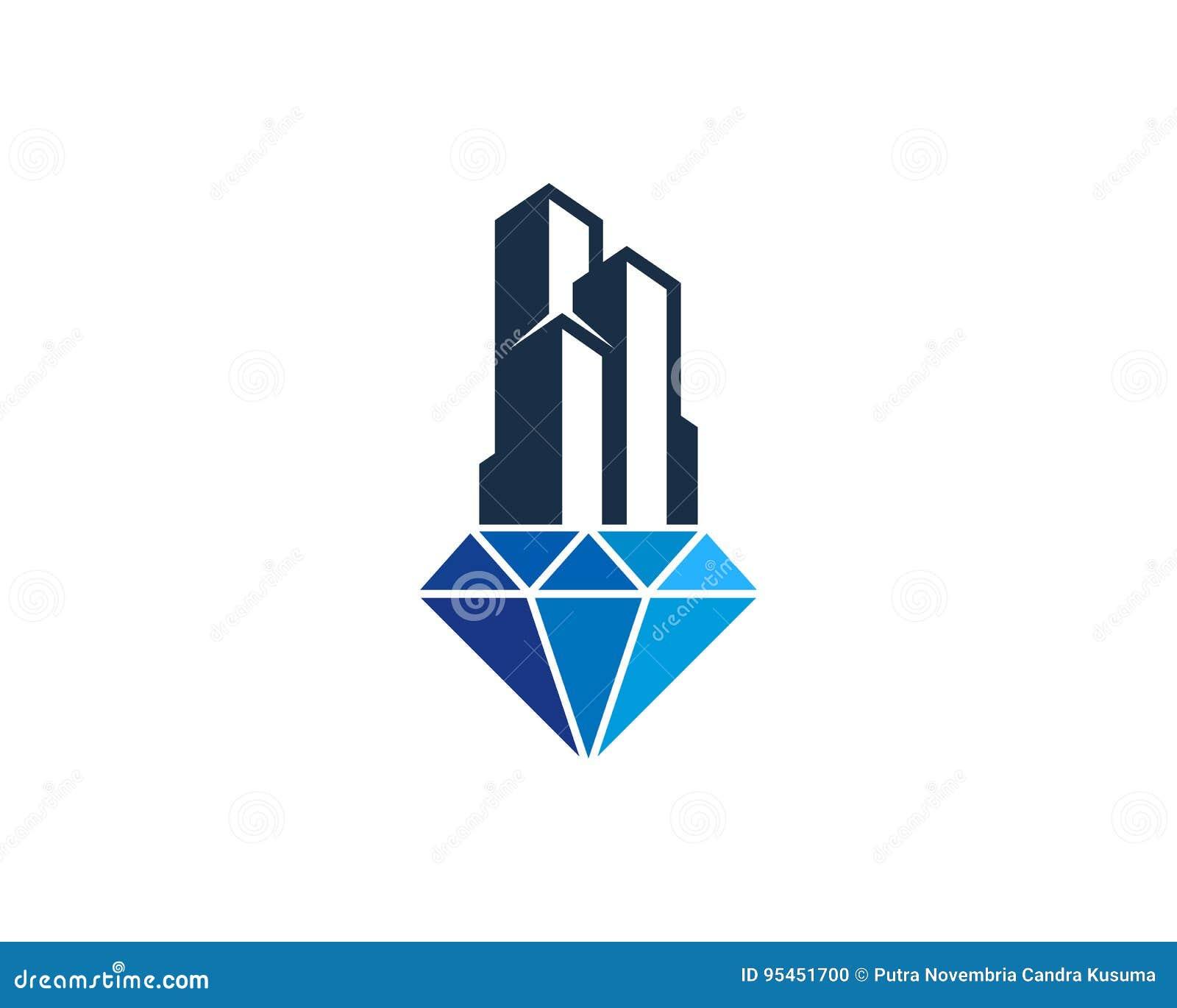 Bureau Design Gebruikt.De Bouw Van Bureau Diamond Icon Logo Design Element Vector
