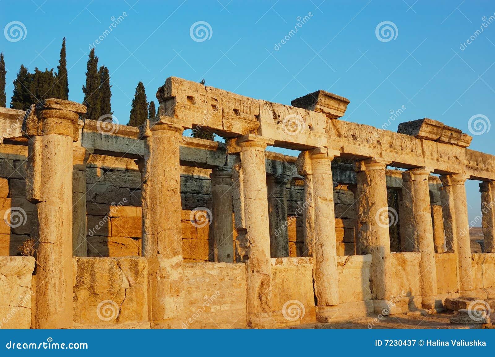 De bouw van de antiquiteit