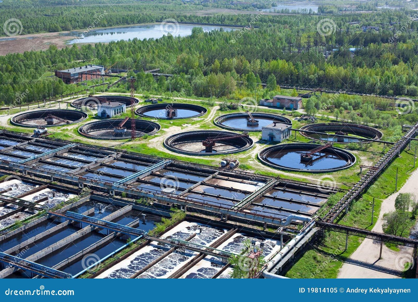 De bouw van de het recyclingsriolering van het water