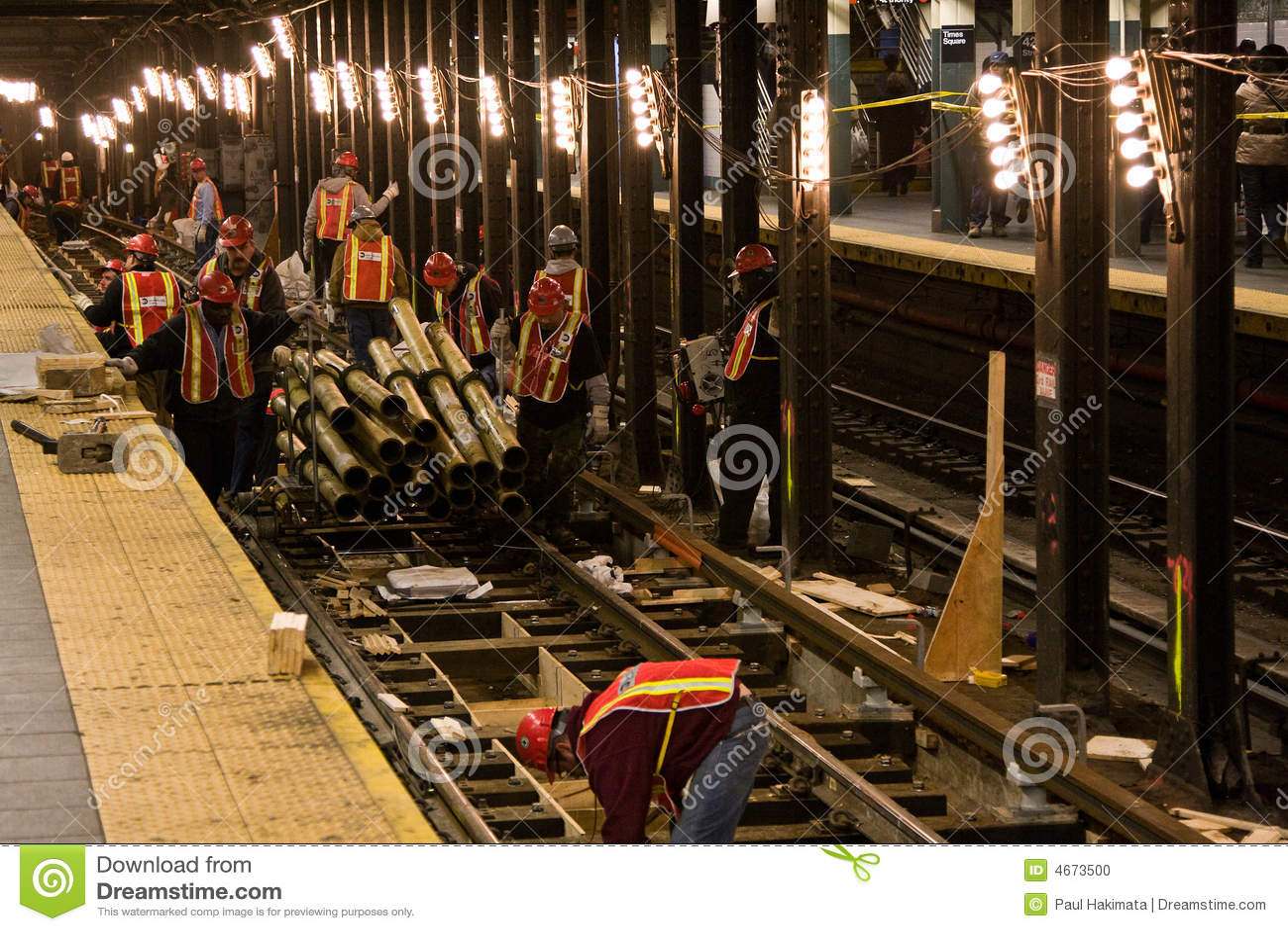 De bouw van de metro