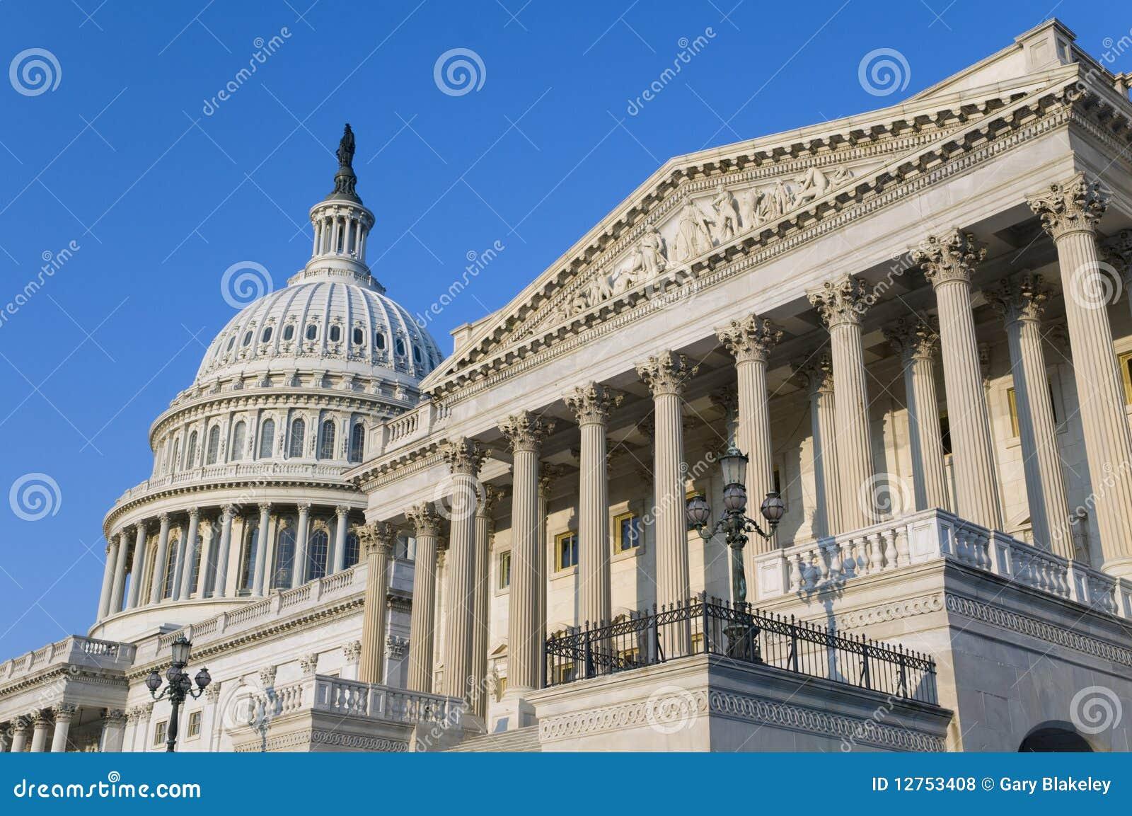 De Bouw van het Capitool van de V.S.