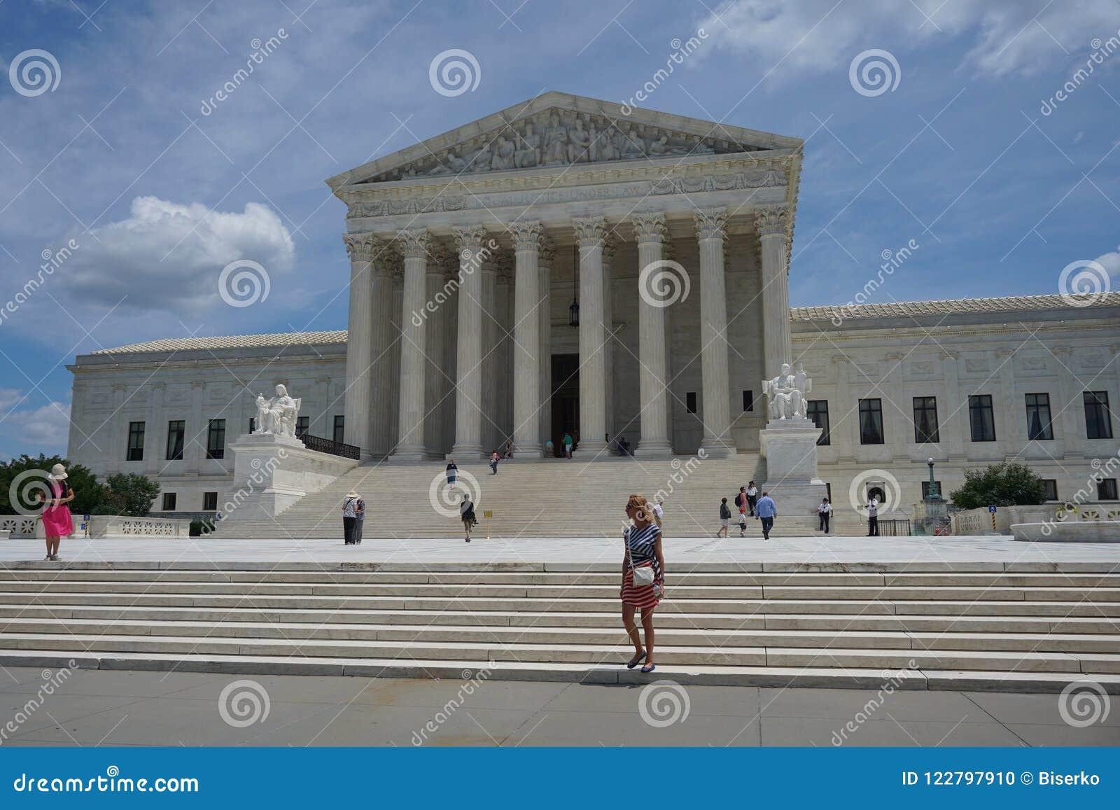 De bouw van het Hooggerechtshof van Verenigde Staten
