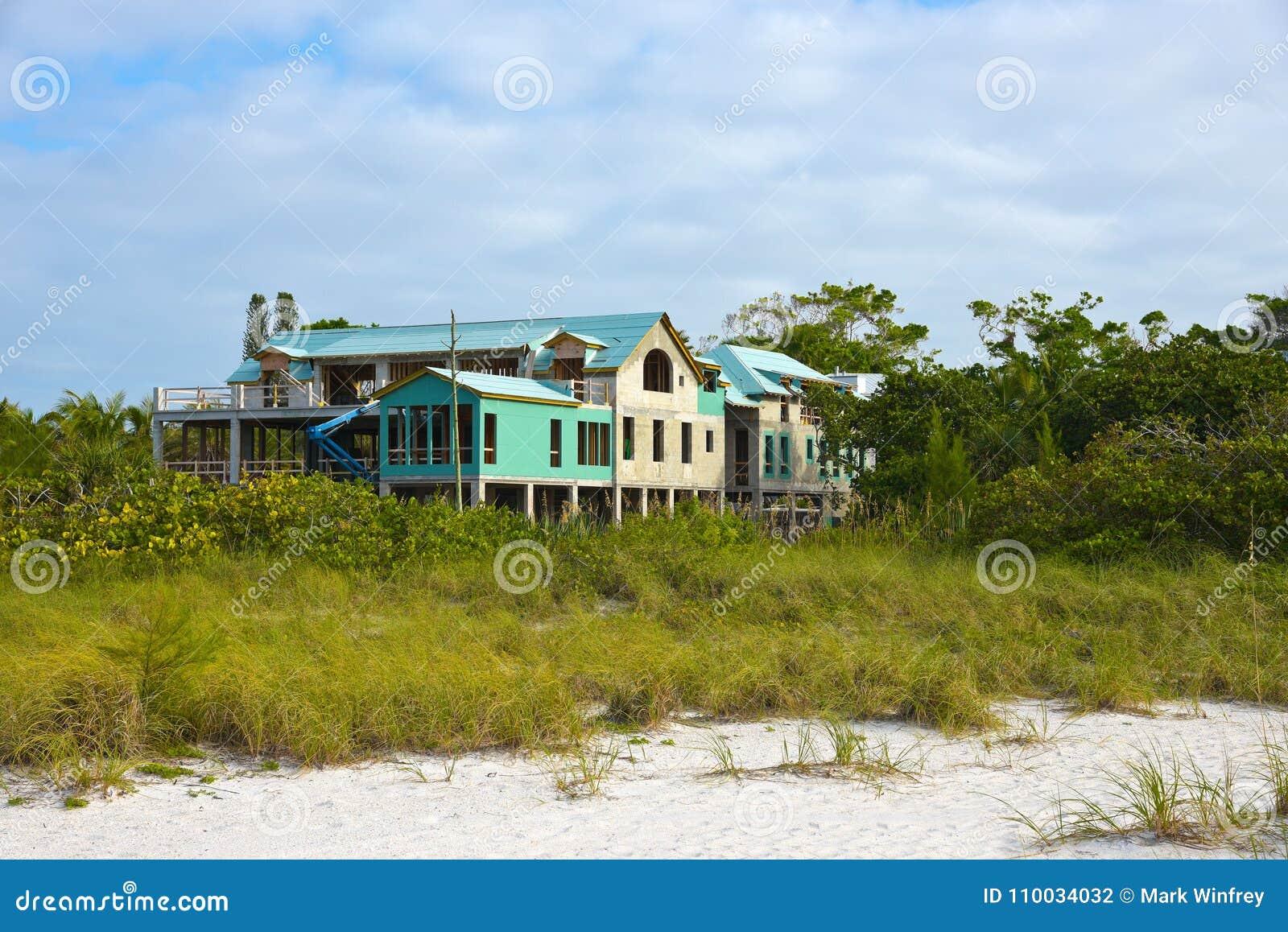 De Bouw van het strandhuis