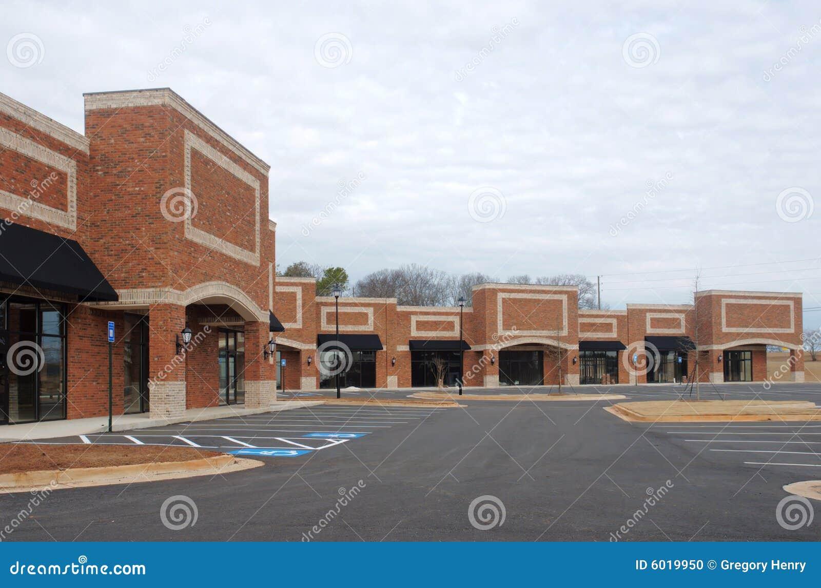 De Bouw van het winkelcentrum