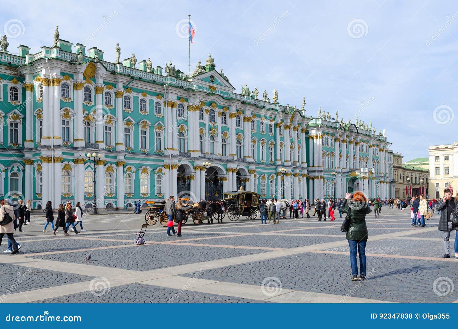De bouw van van het de Kluismuseum van de Staat de Winterpaleis, Paleisvierkant, Heilige Petersburg, Rusland