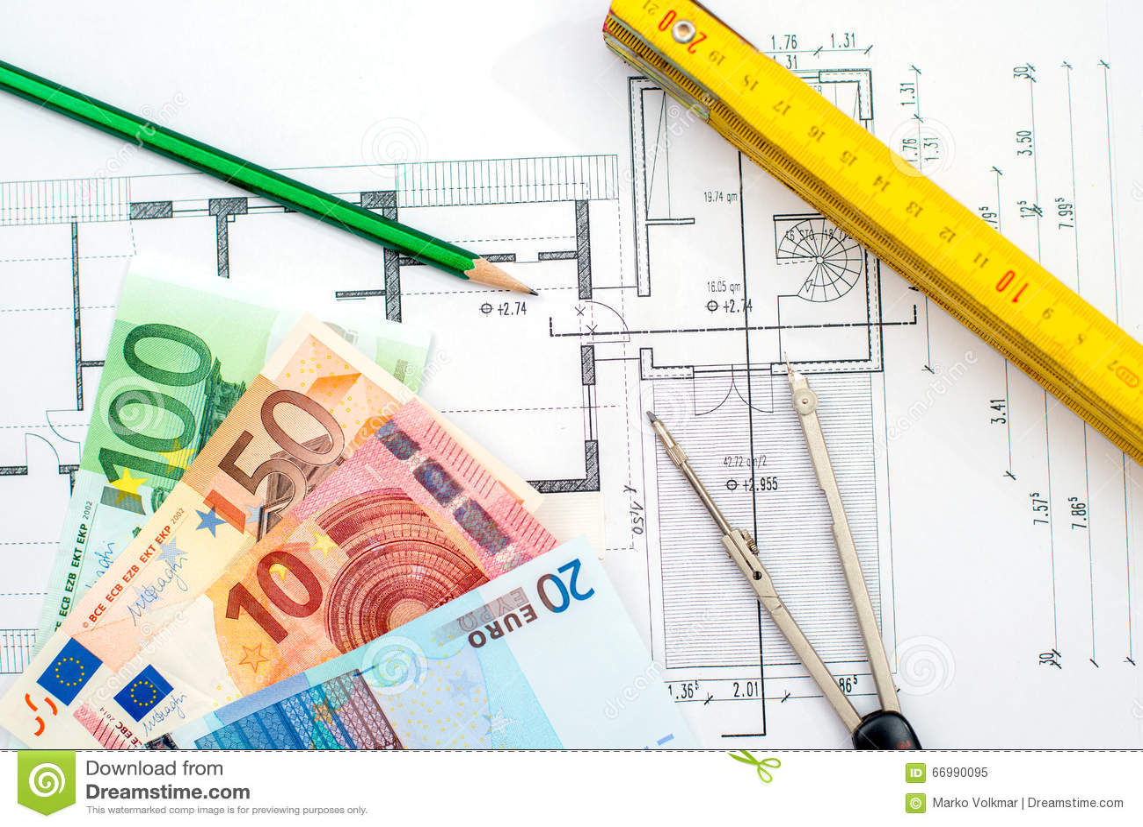 De bouwplan met geld