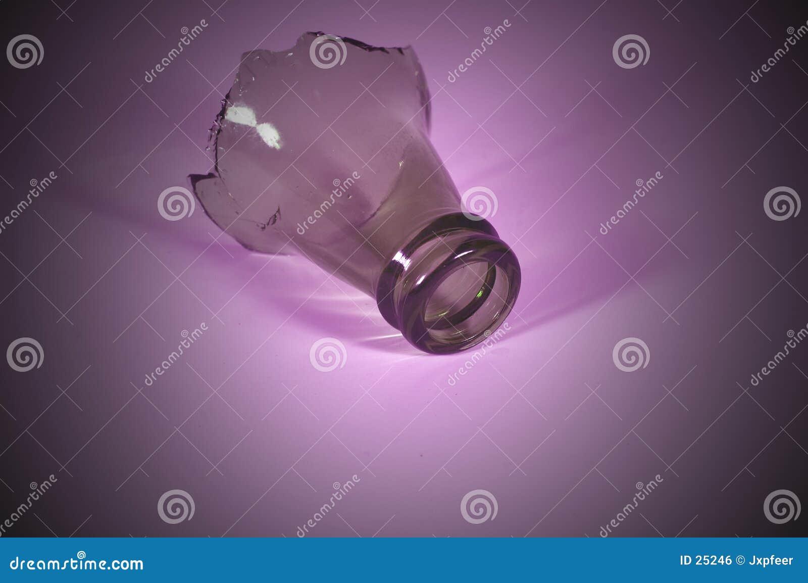 De bovenkant van de fles - purple