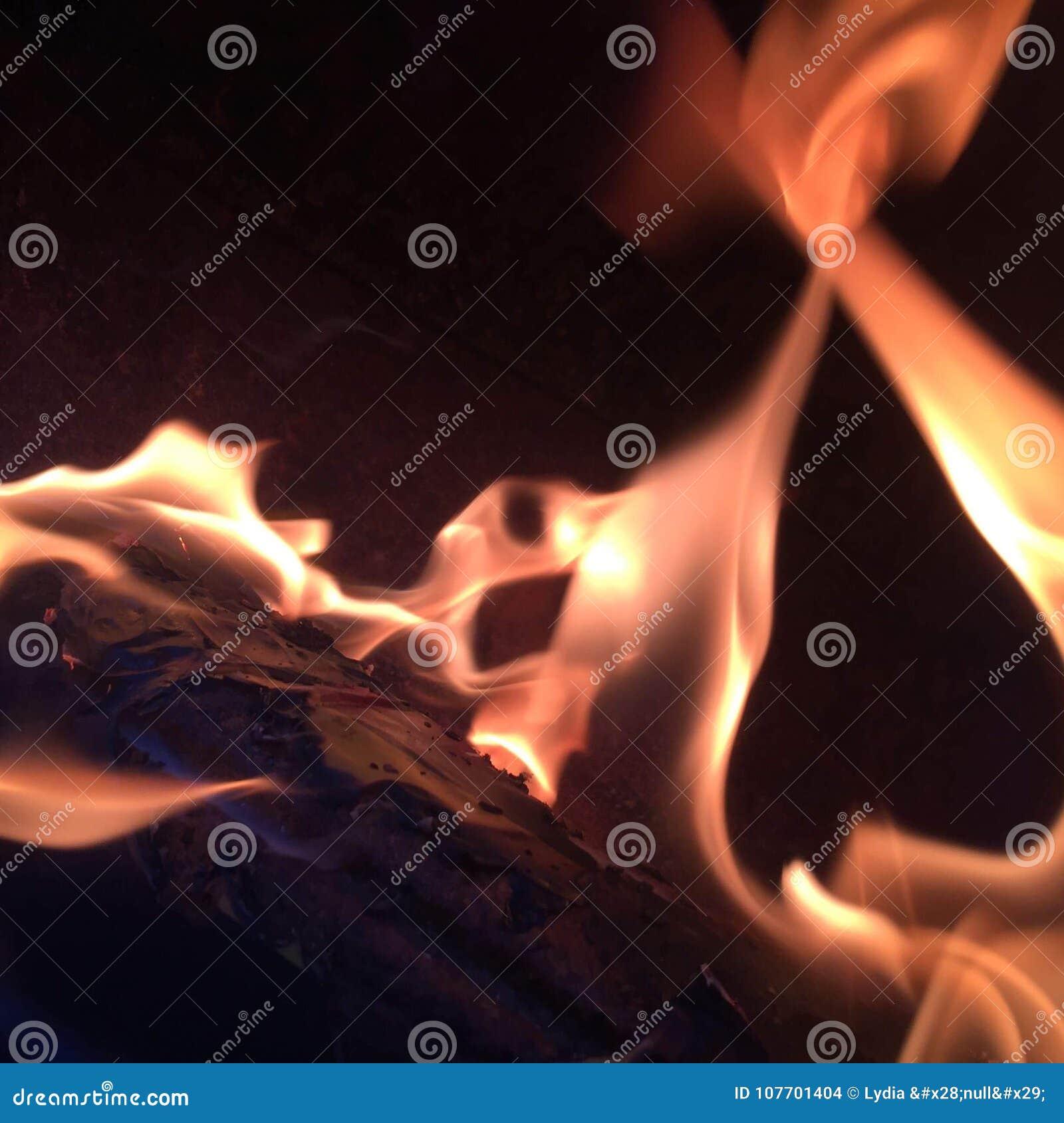 De brand die binnen brandt