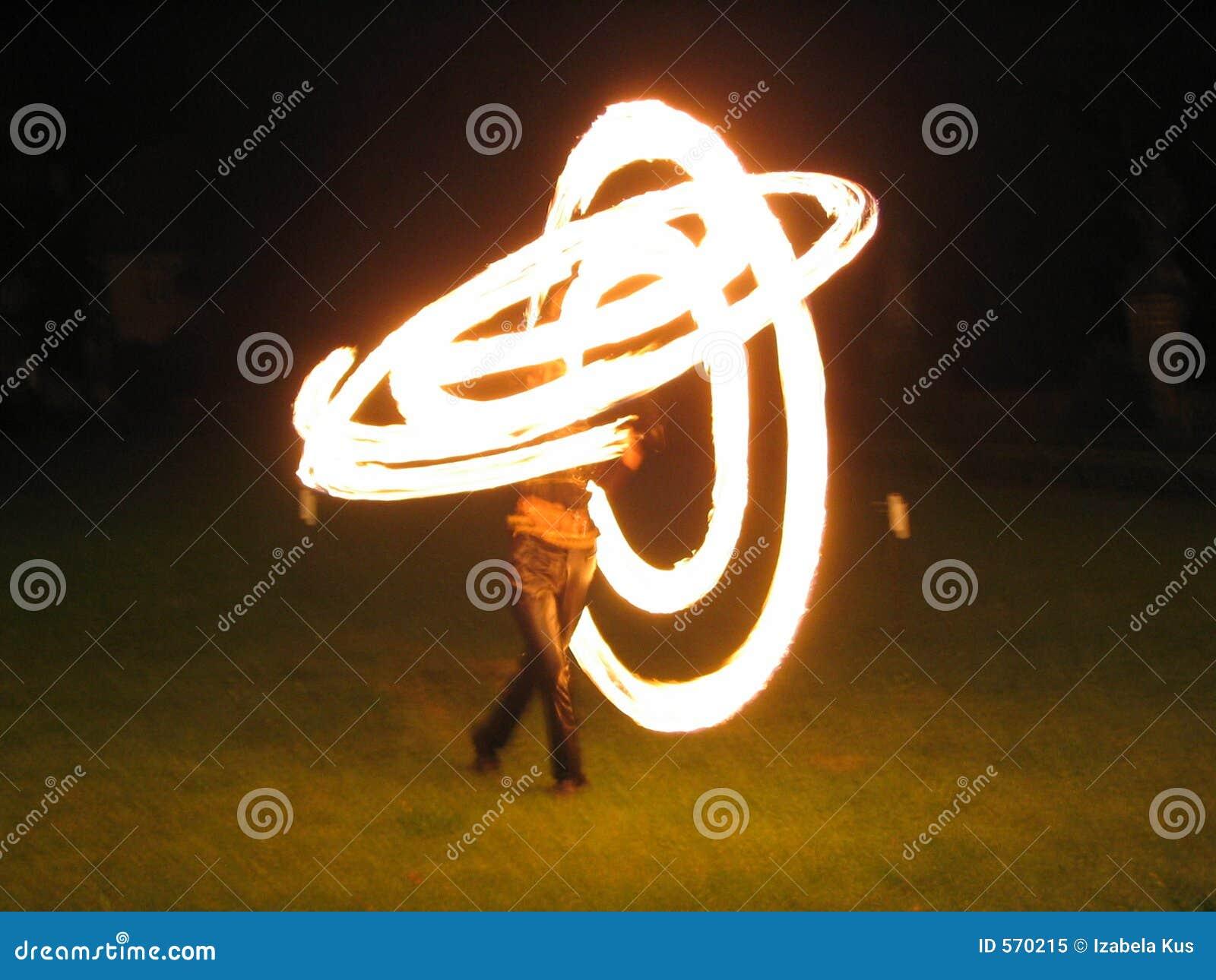 De brand toont