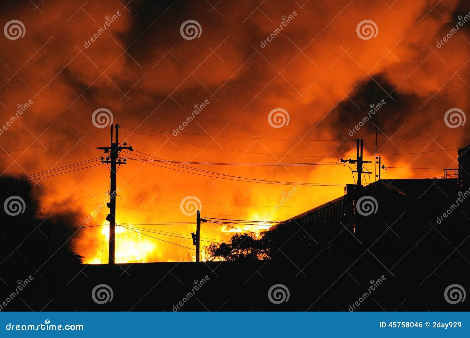 De brand van het huis