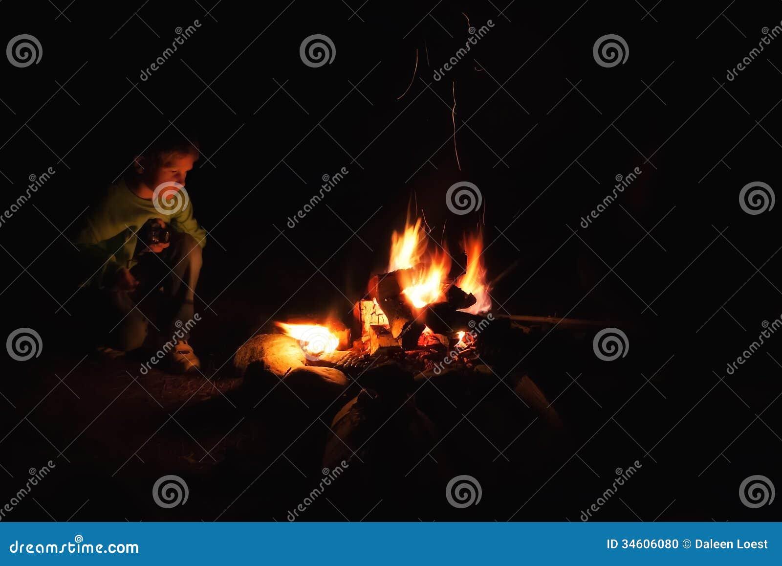 De brand van het jongenskamp