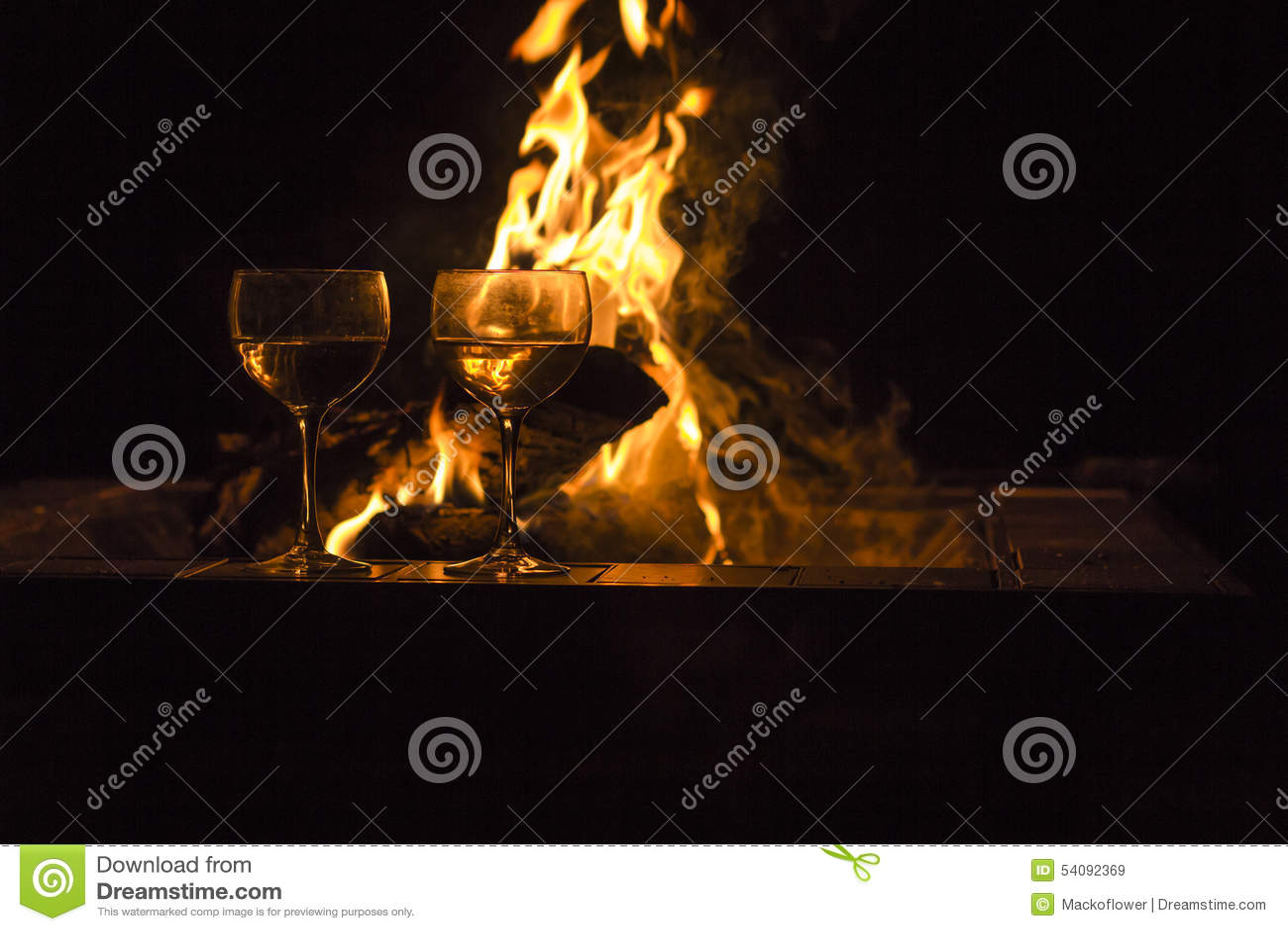 De Brand van twee Wijnglazen