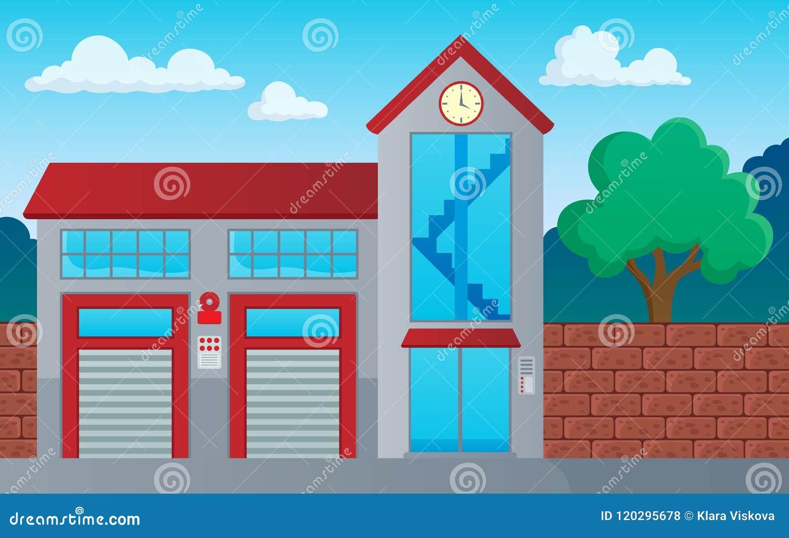 De brandweerkorpsbouw themabeeld 1