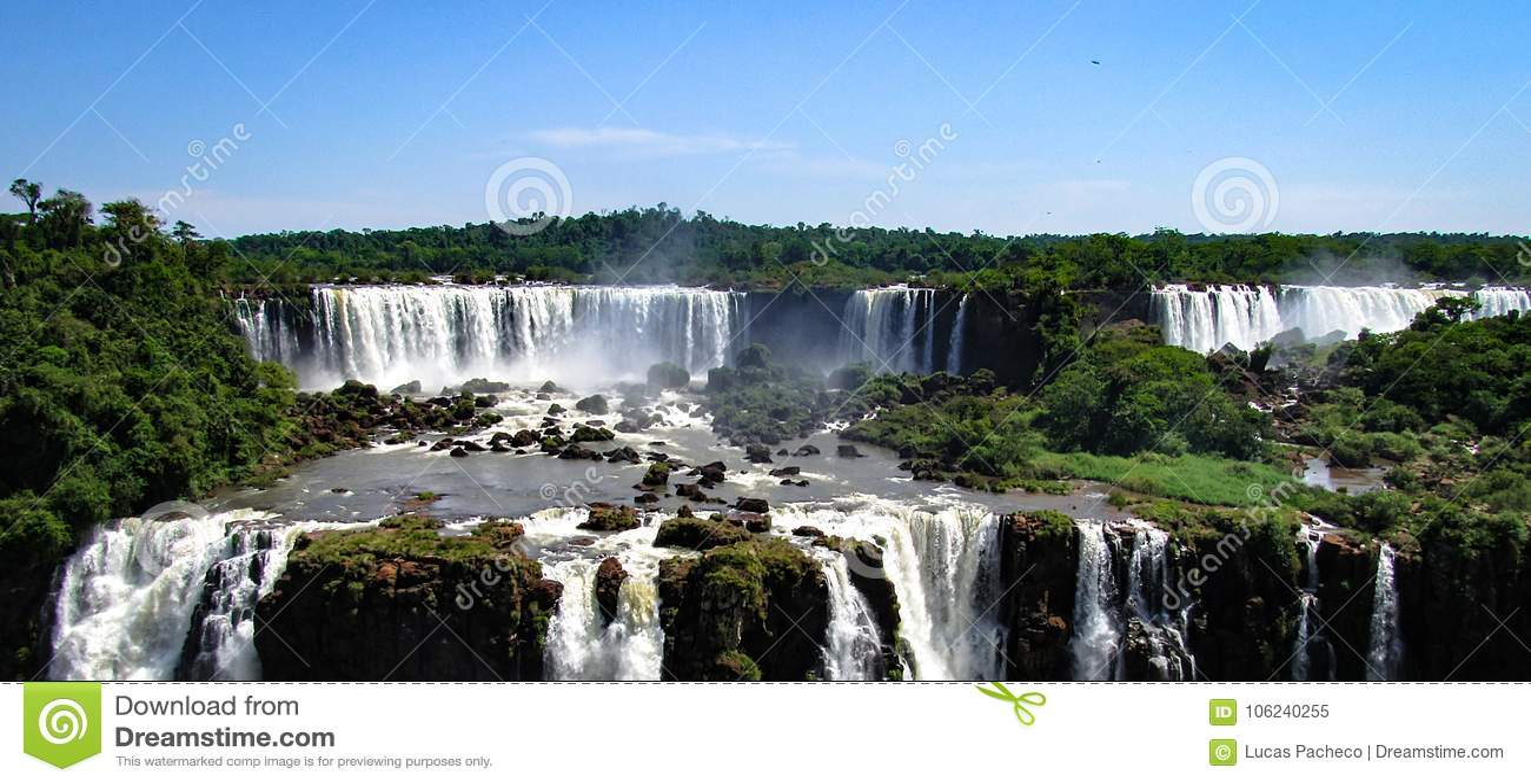 De Braziliaanse Kant van Iguazu valt, in Foz doe Iguacu, Brazilië