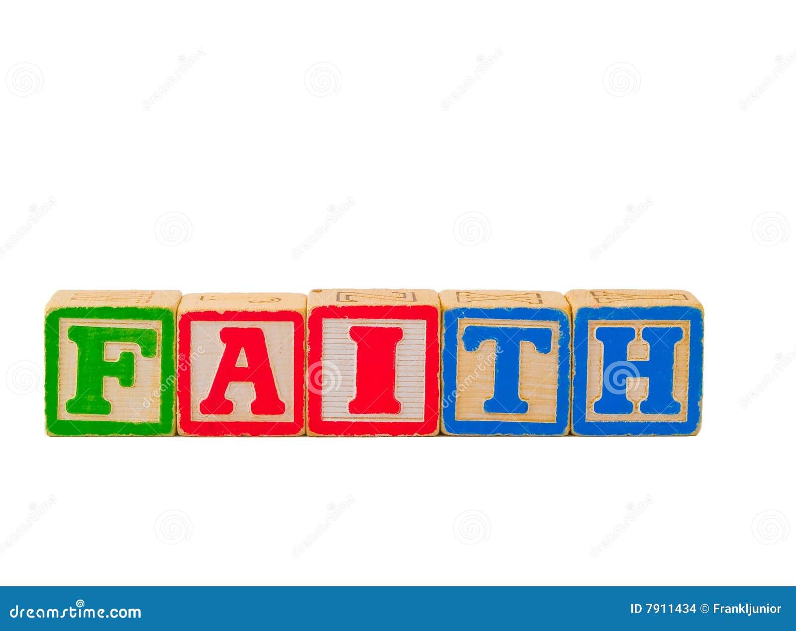De Brief Van Het Geloof Blokkeert 1 Stock Foto Afbeelding
