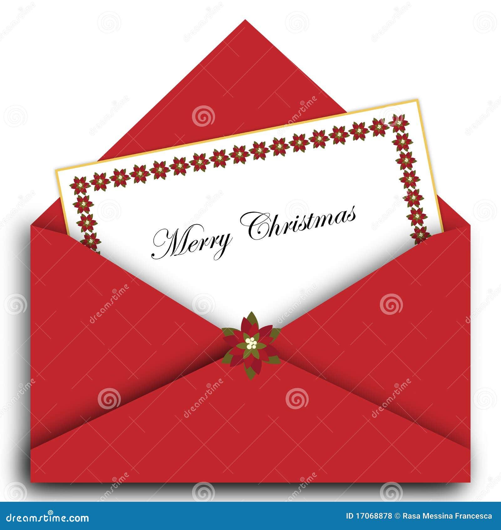 De brief van Kerstmis met envelop