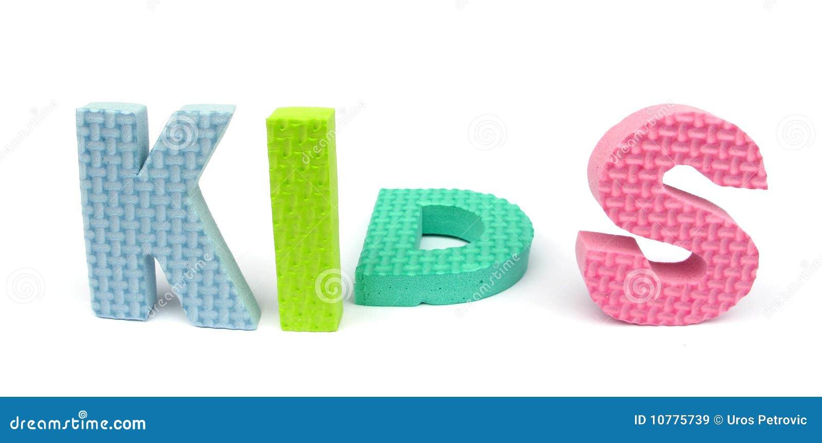 """De brieven die van de spons """"jonge geitjes spellen"""""""