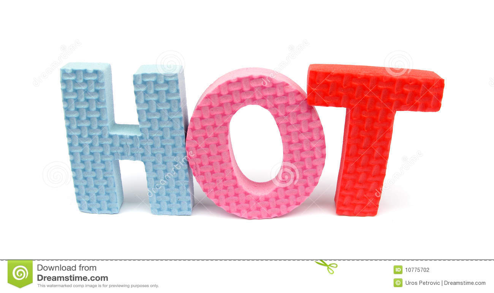 """De brieven van de spons """"HEET"""" spellen"""