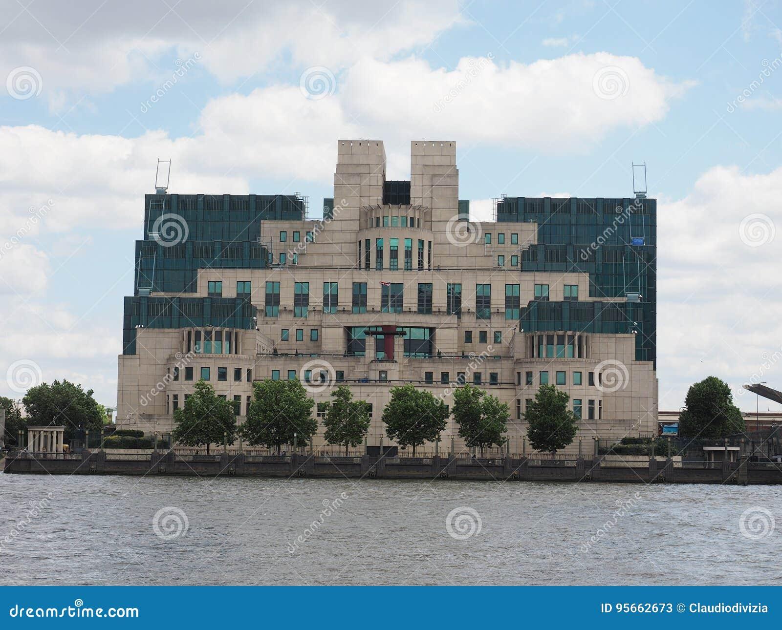 De Britse Geheime Dienst In Londen Stock Afbeelding Afbeelding