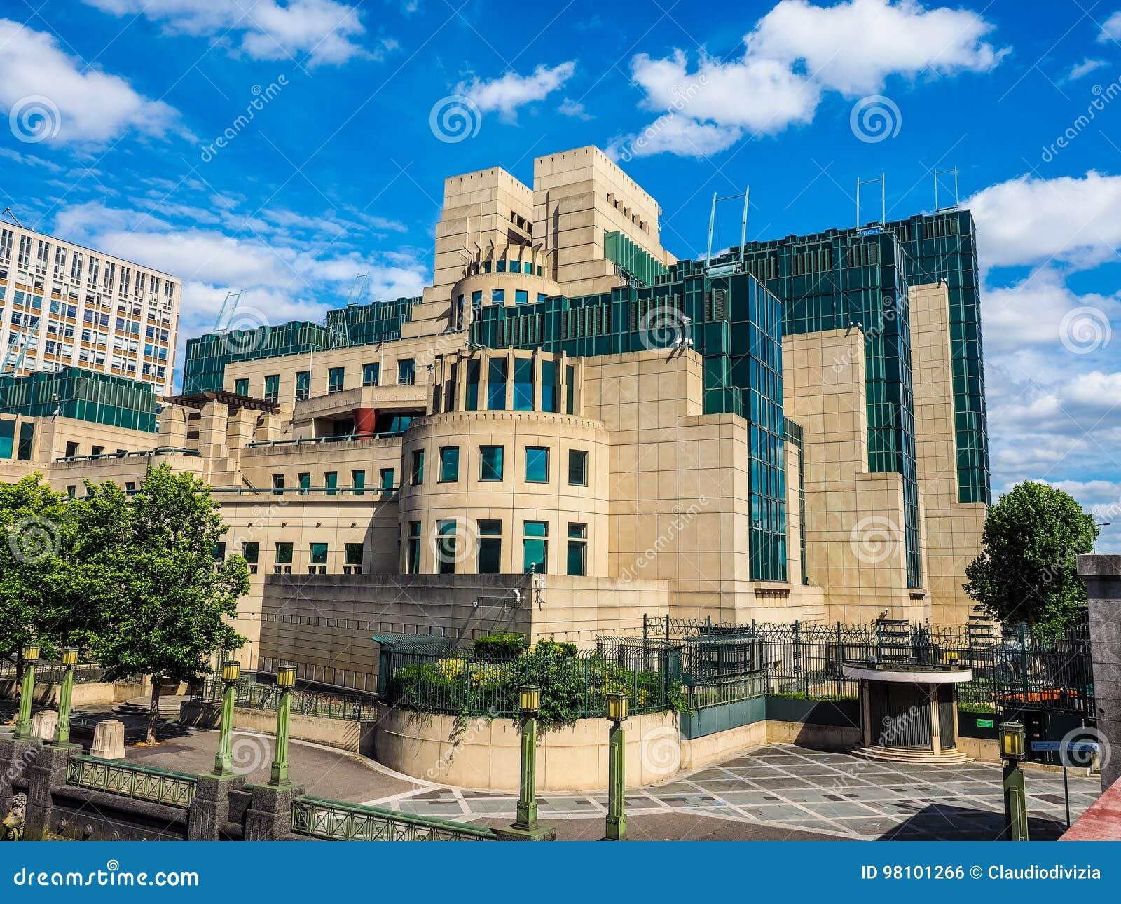 De Britse Geheime Dienst In Londen Hdr Stock Foto Afbeelding