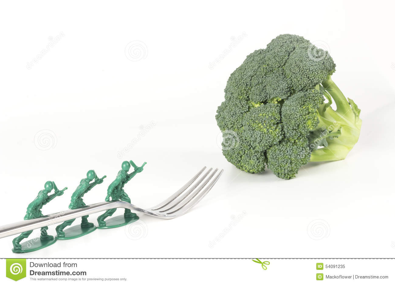 De Broccolivork van legermensen