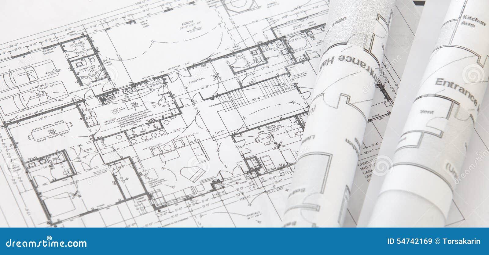 De broodjes en de plannen van de architect