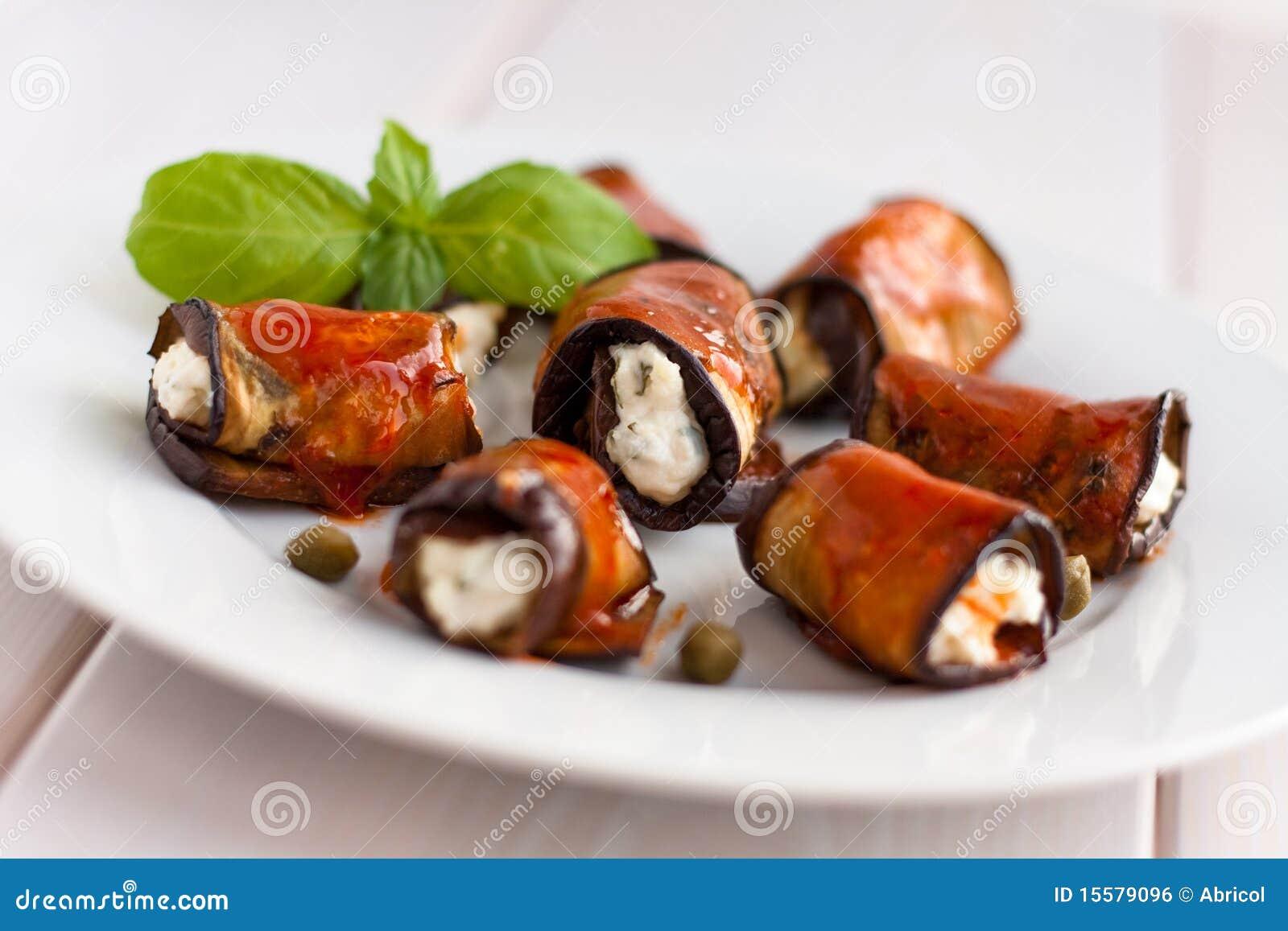 De broodjes van de aubergine