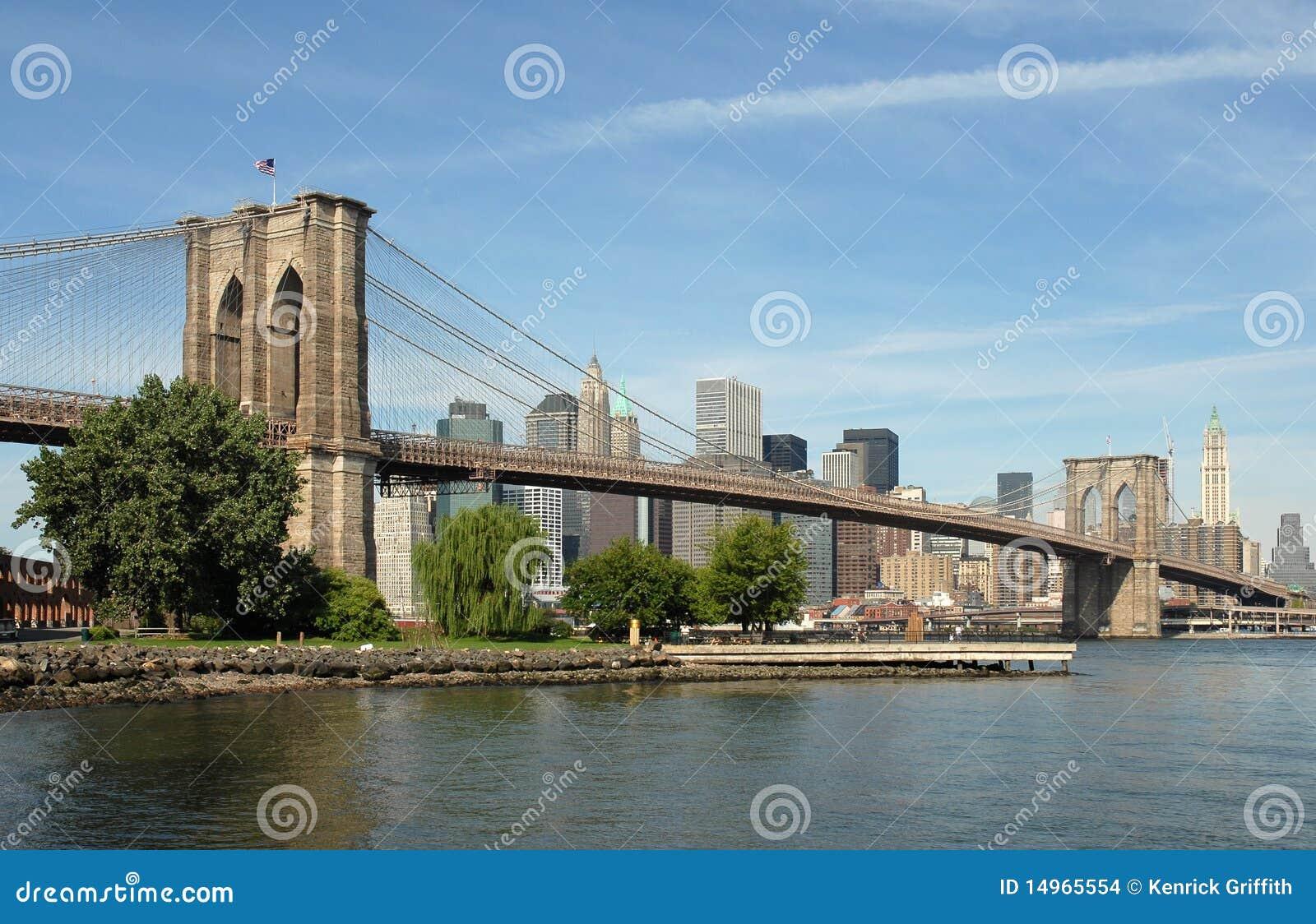 De Brug van Brooklyn, de Stad van New York, de V.S.