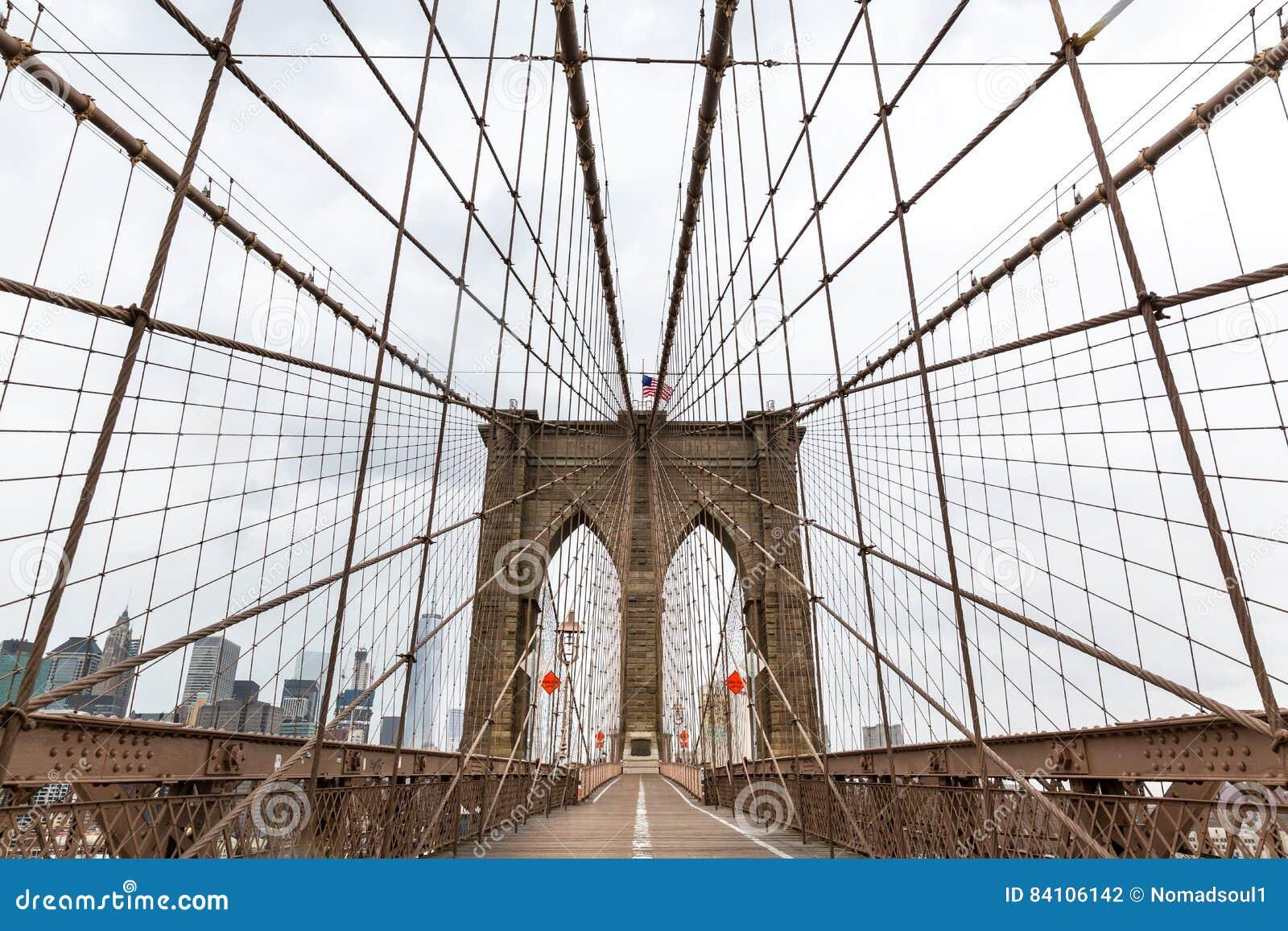De Brug van Brooklyn, niemand, de Stad de V.S. van New York