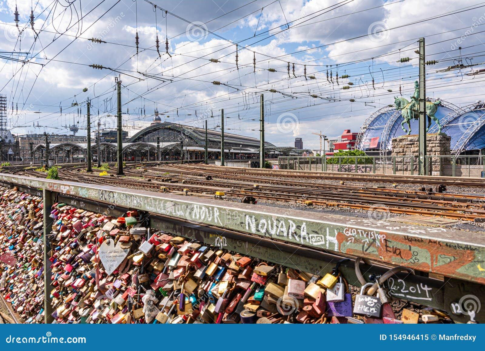 De brug van het liefdeslot in Keulen