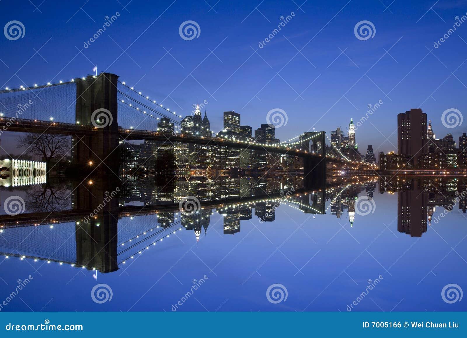 De Brug van New York en van Brooklyn