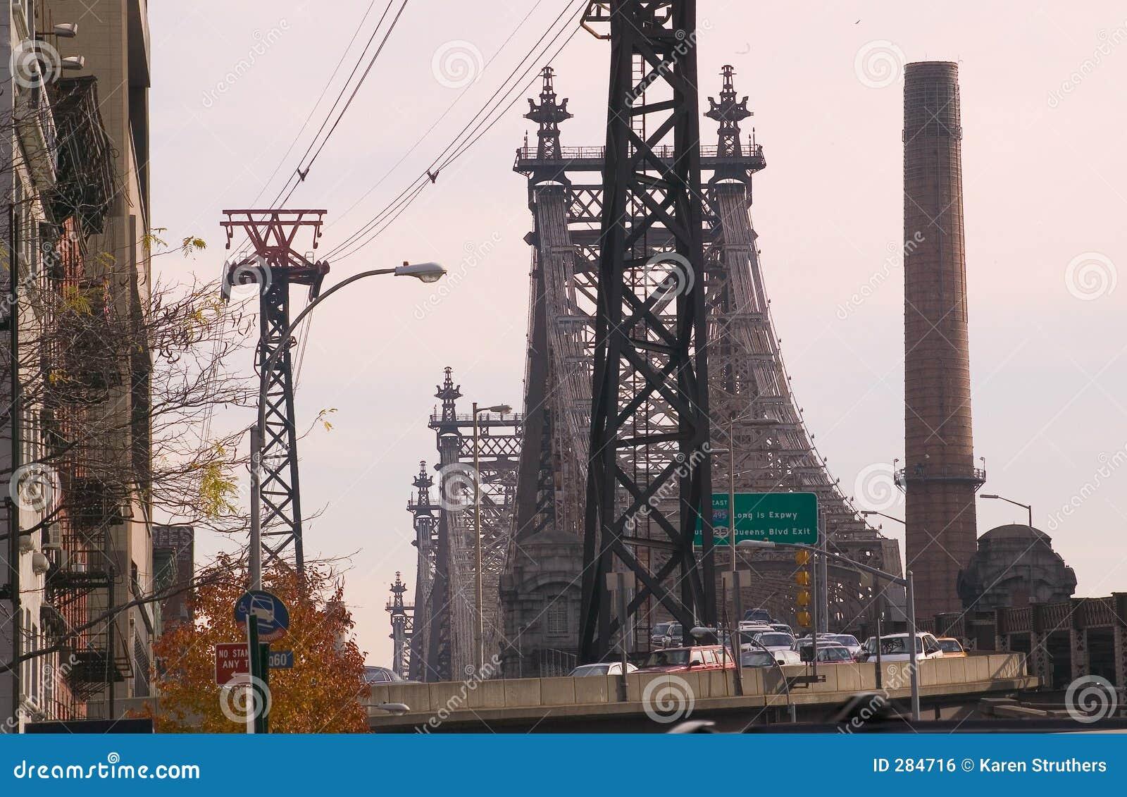De Brug van Queensborough in New York