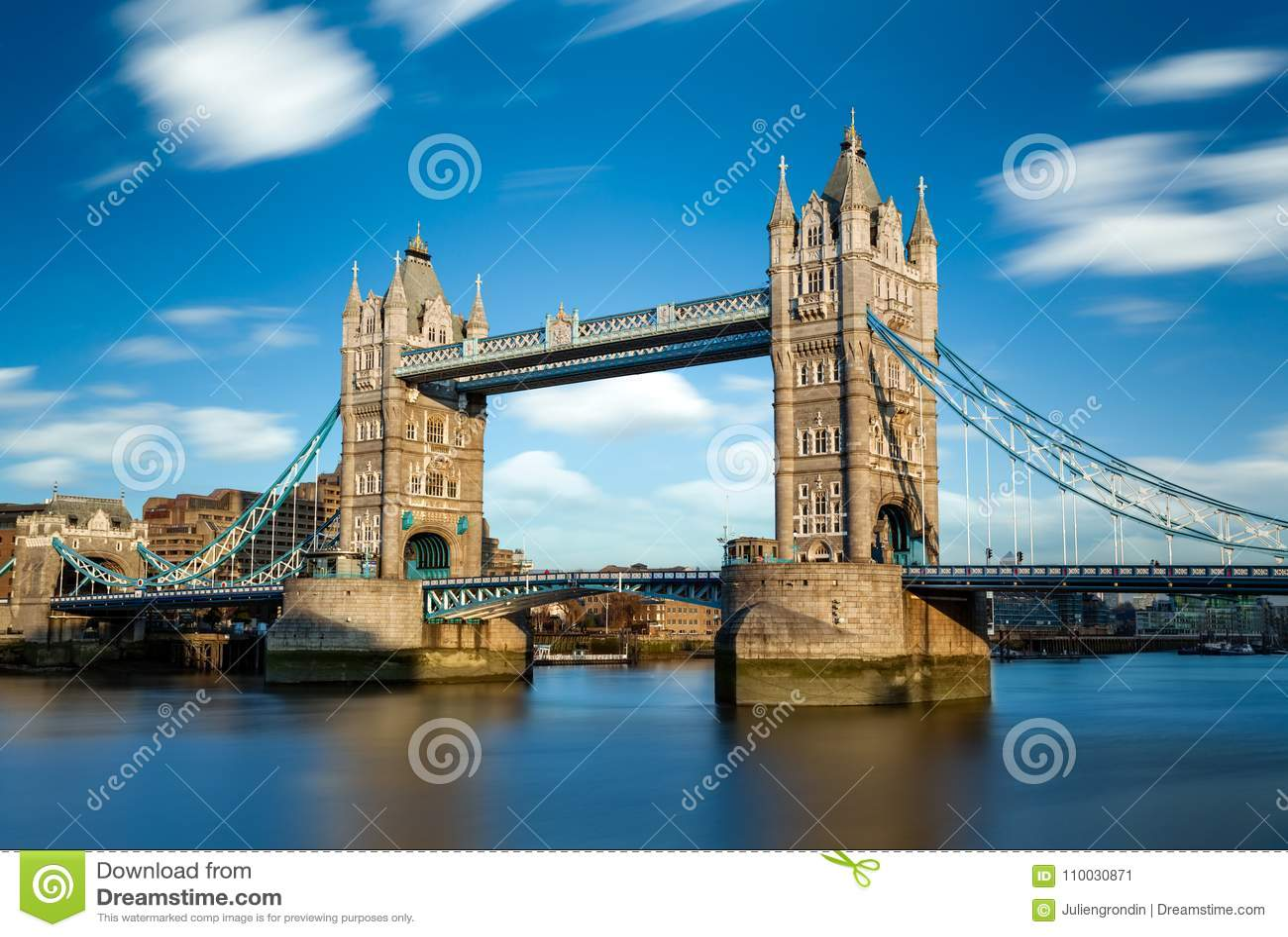 De Brug van de toren in Londen, het UK