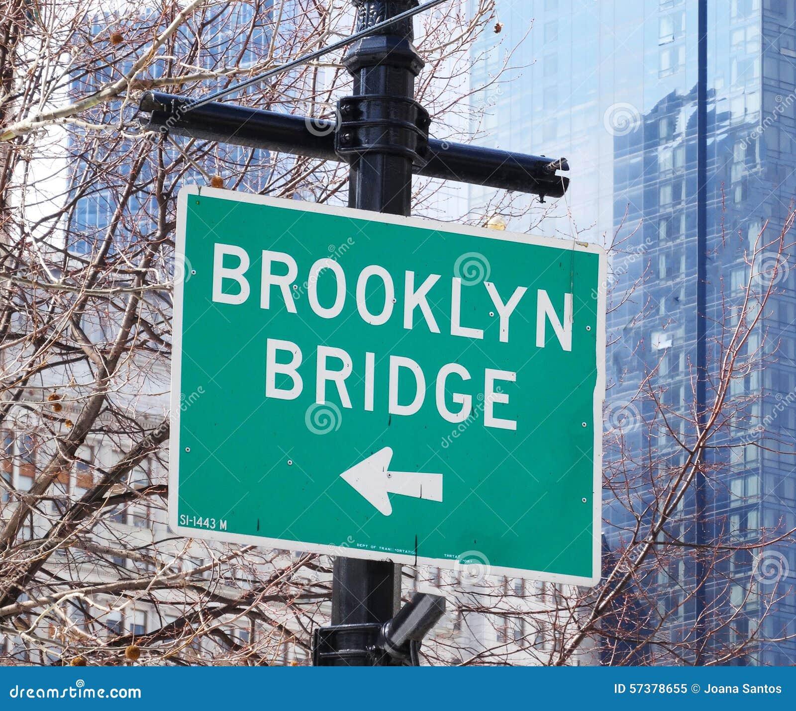De Brugrichting van Brooklyn, New York