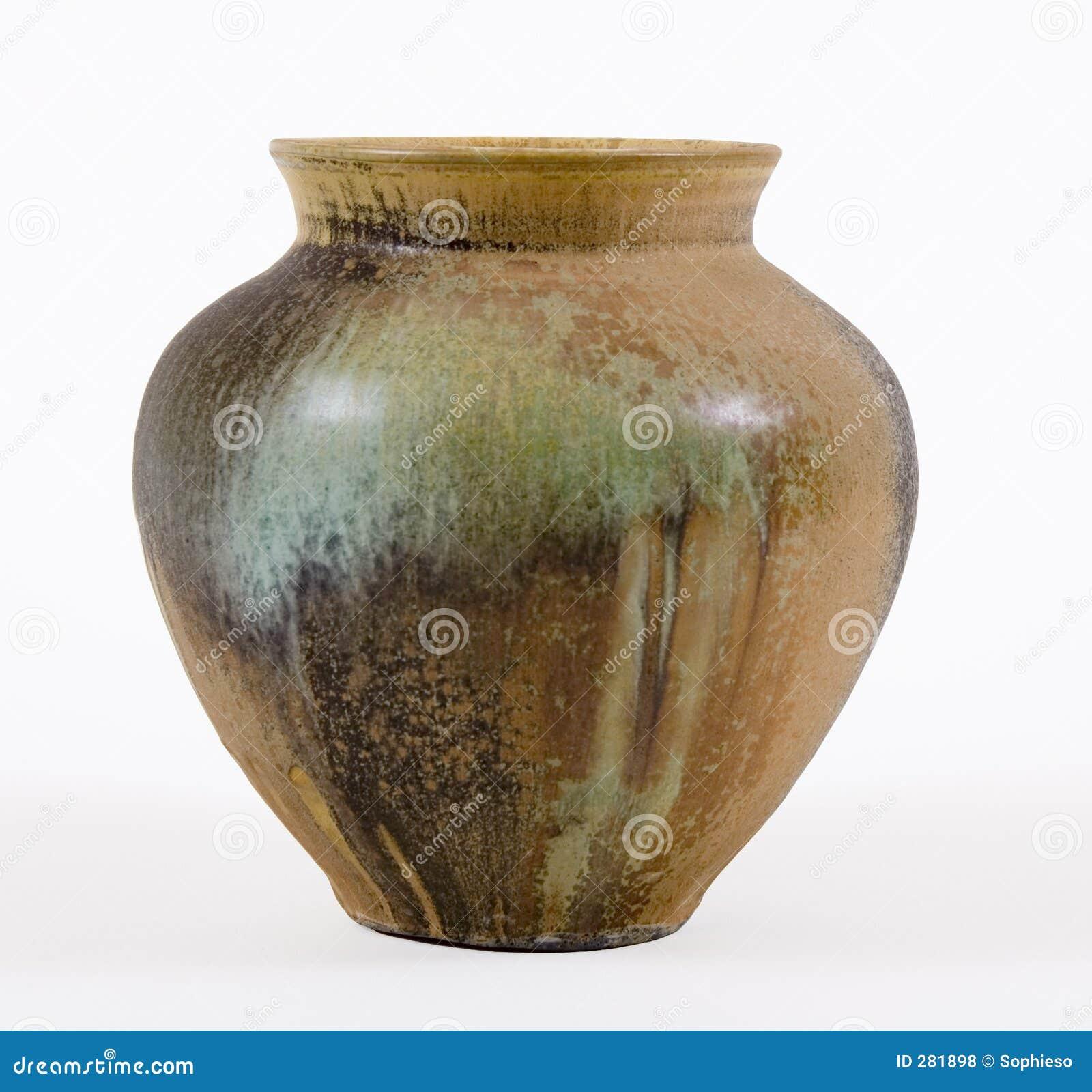 De bruine & Groene Pot van het Steengoed