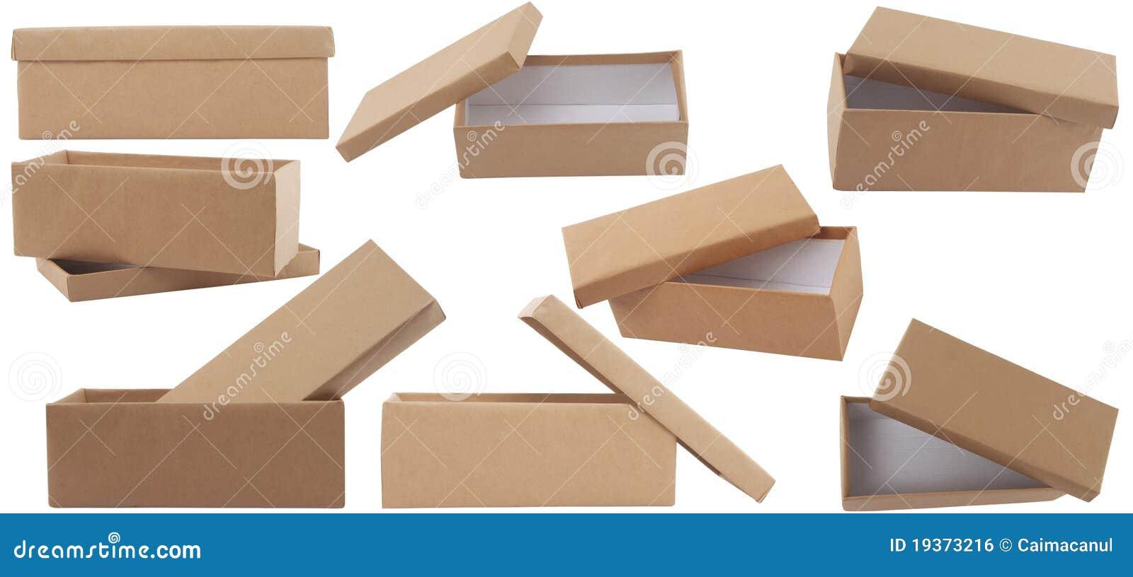 De bruine doos van de gift met deksel