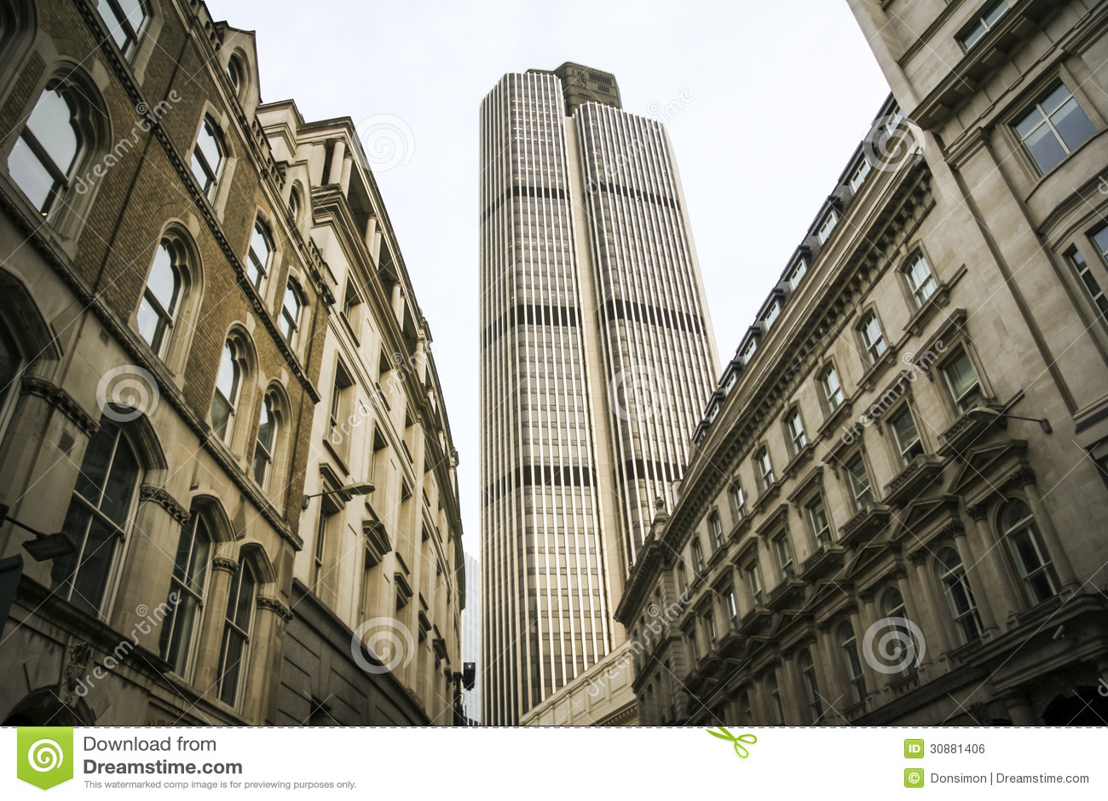 De bureaus Londen Engeland van de stadsstraat