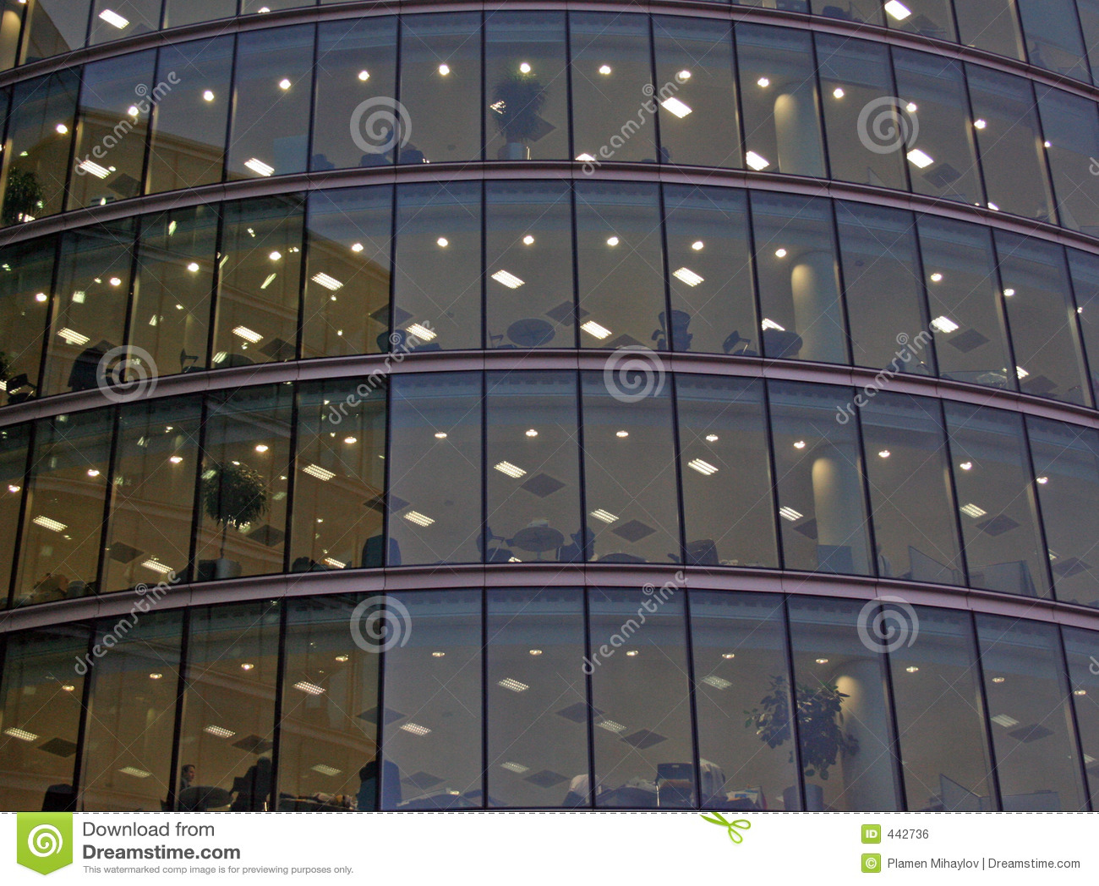 De Bureaus van het glas