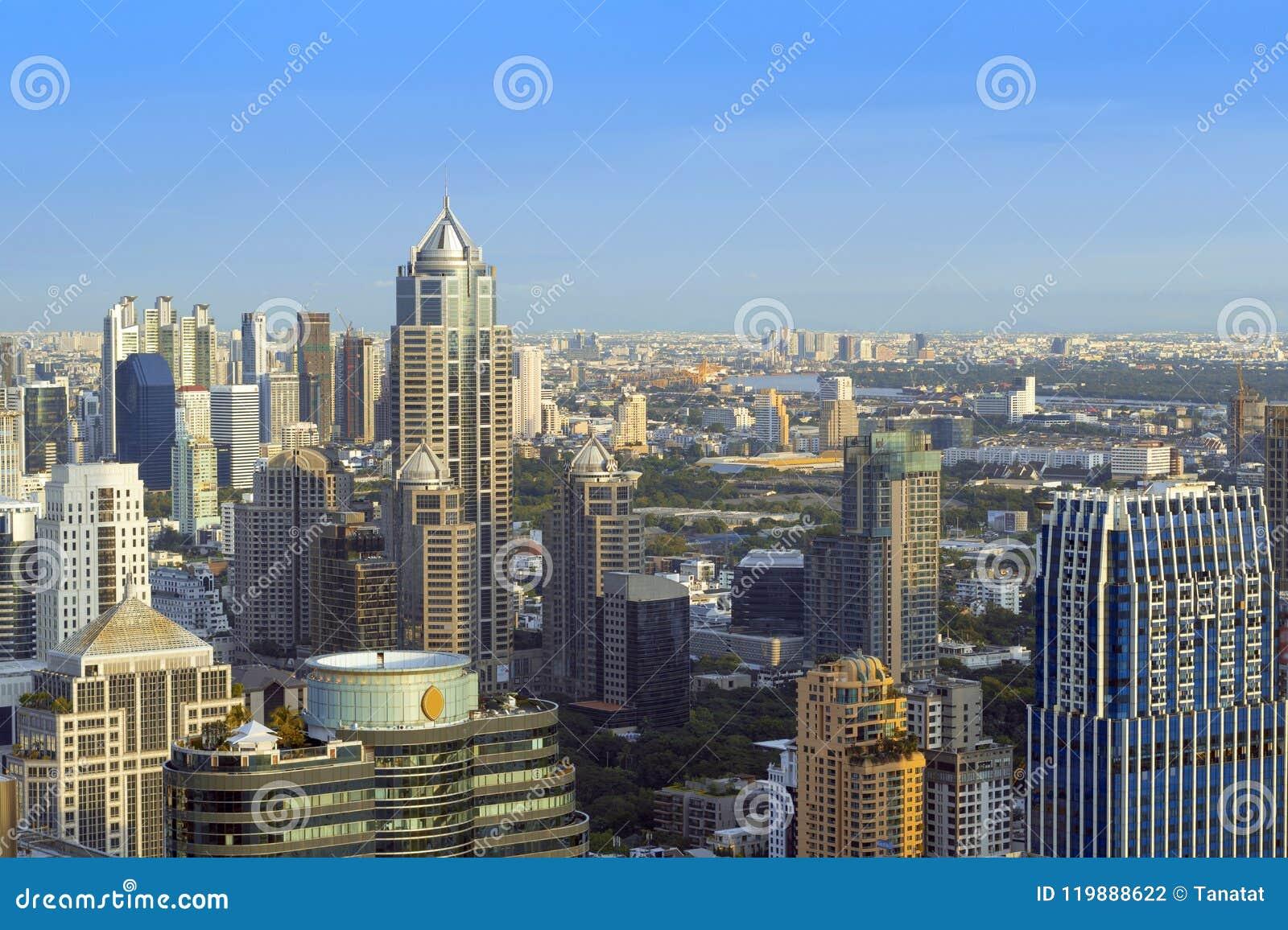 De bureaux d immeuble le centre ville dedans de Bangkok, Thaïlande