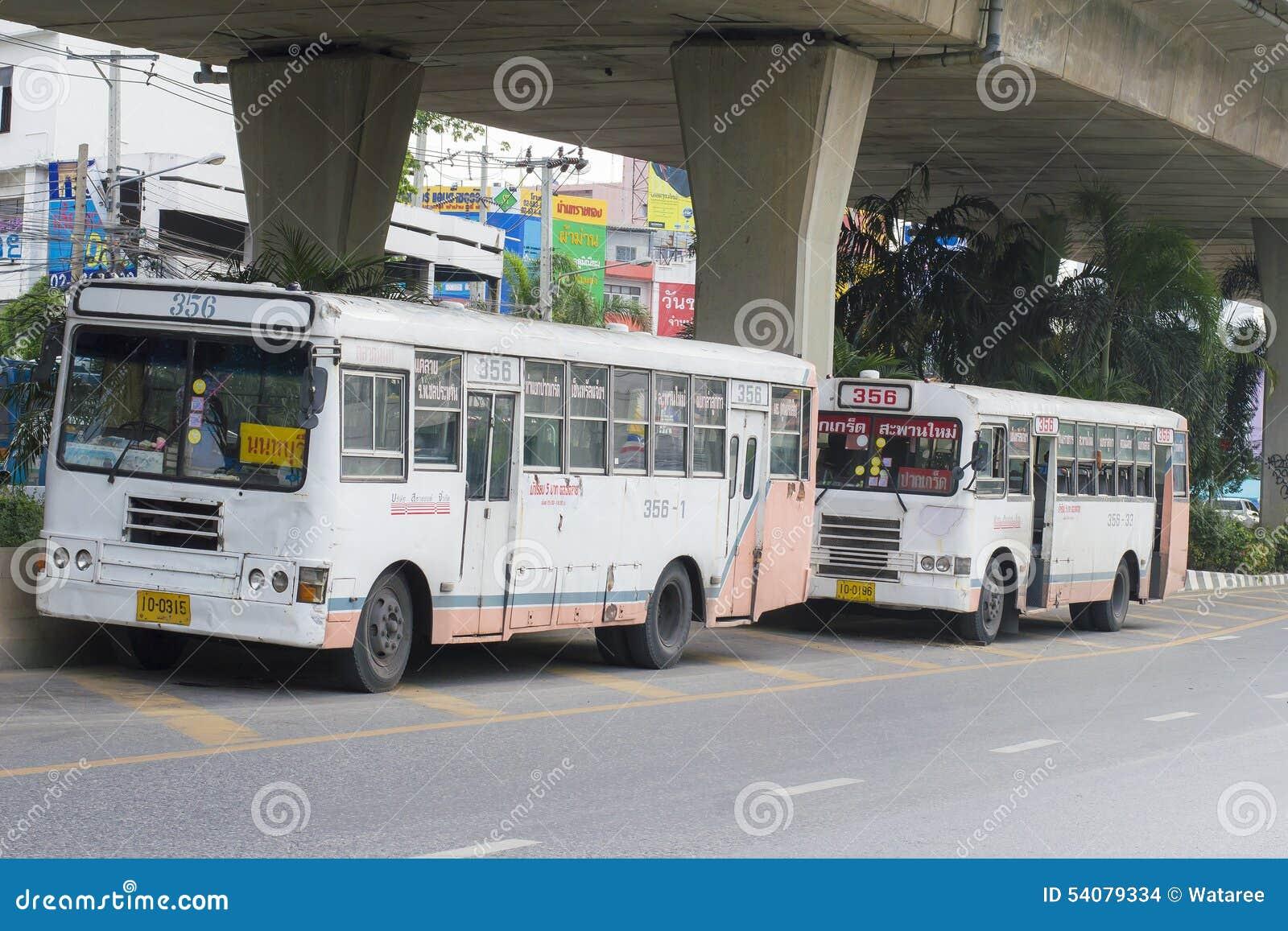 De busauto van Bangkok