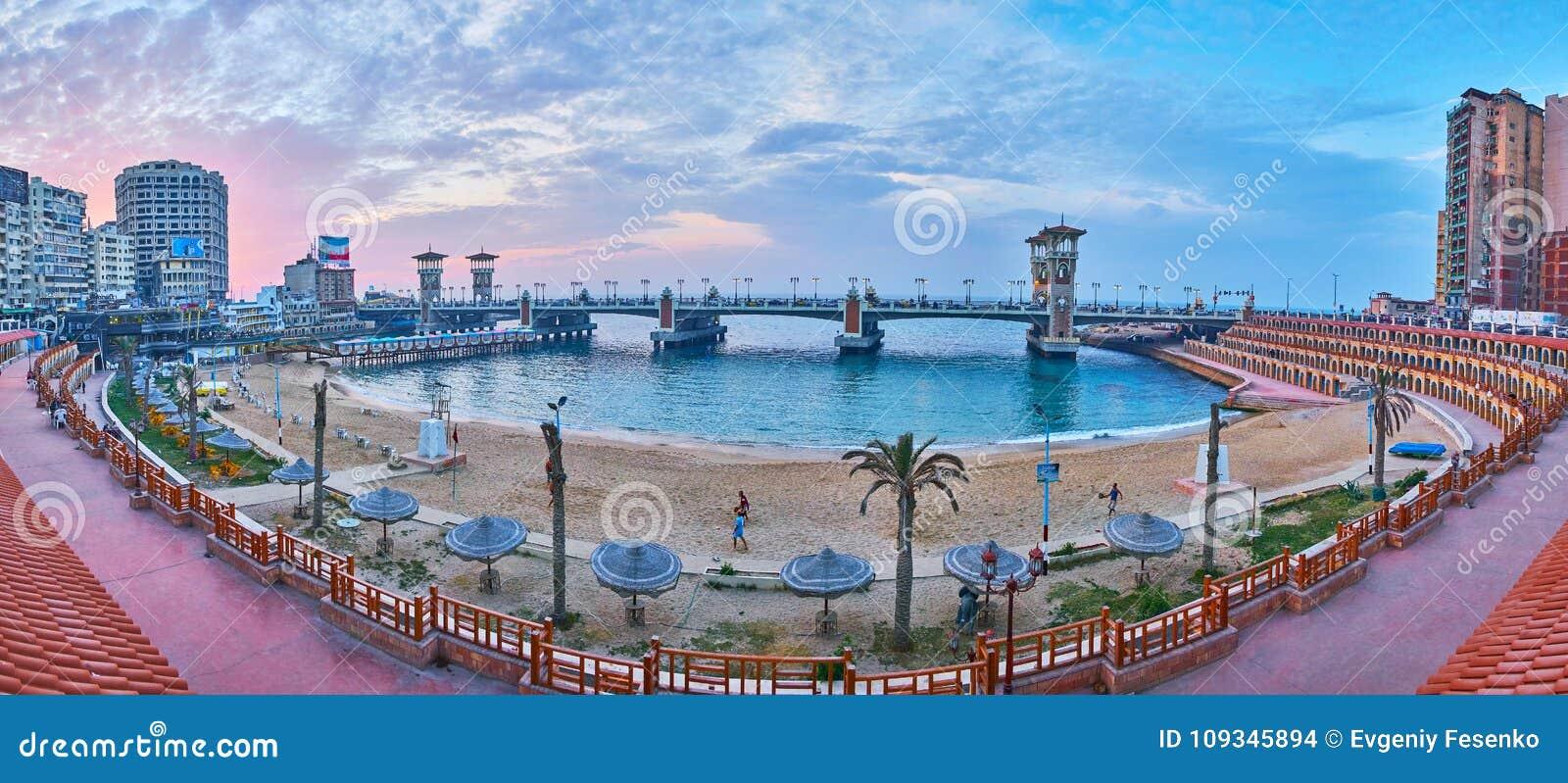 De buurt van Stanley, Alexandrië, Egypte