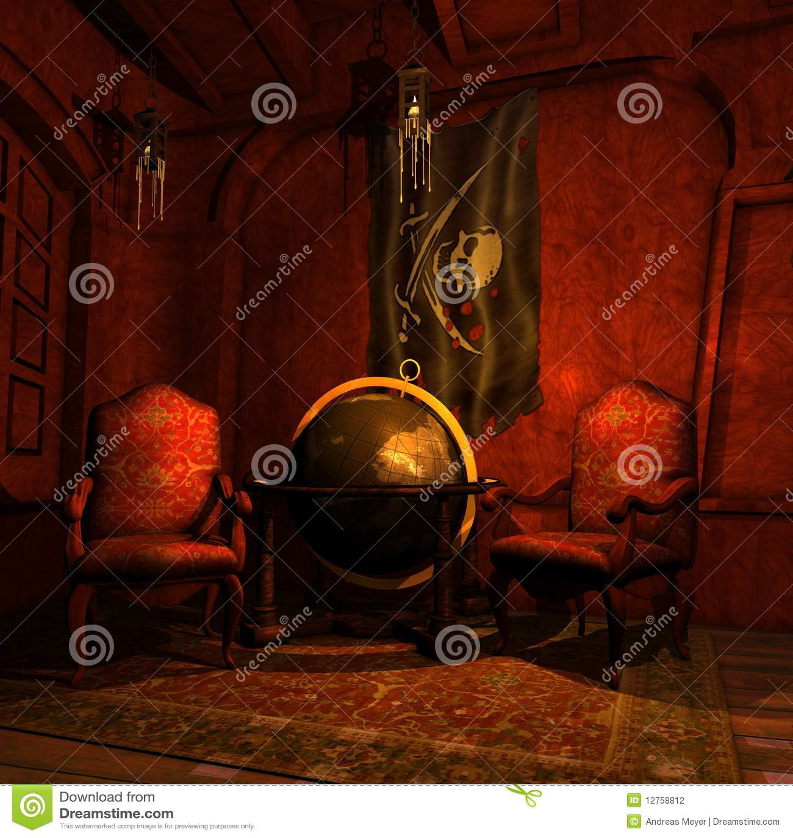 De Cabine van de Kapiteins van de piraat