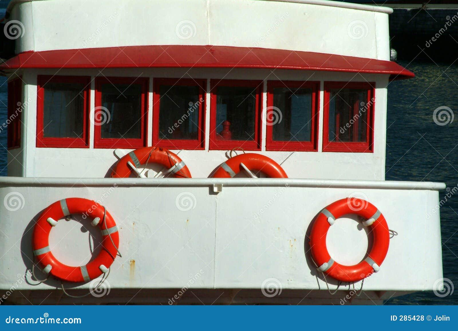 De cabine van het schip