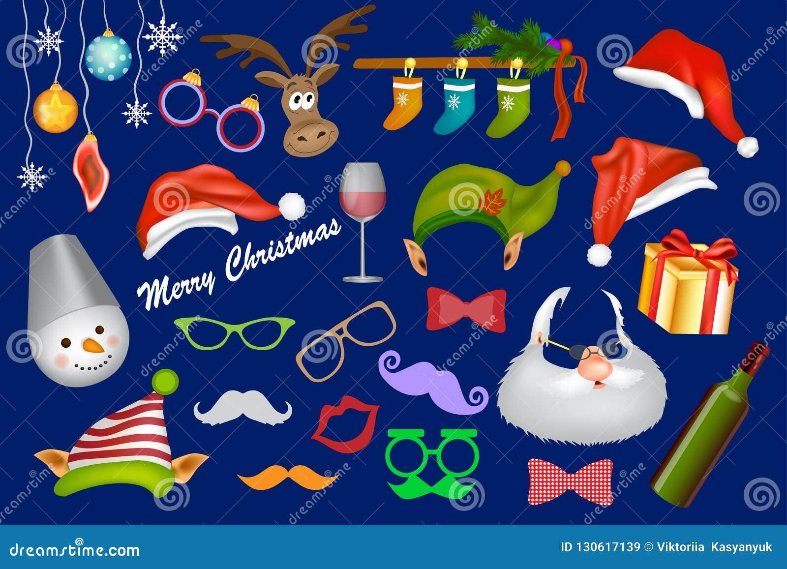 De cabinesteun van de Kerstmisfoto