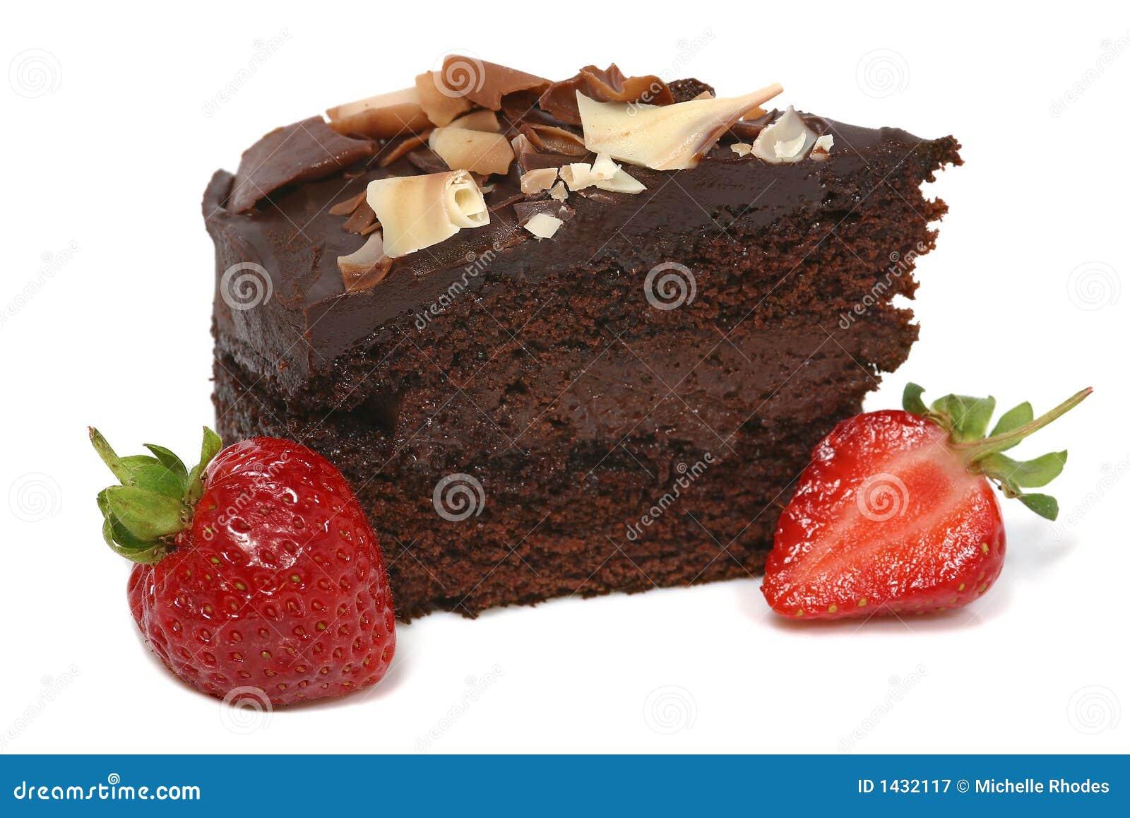 De Cake en de Aardbei van de chocolade