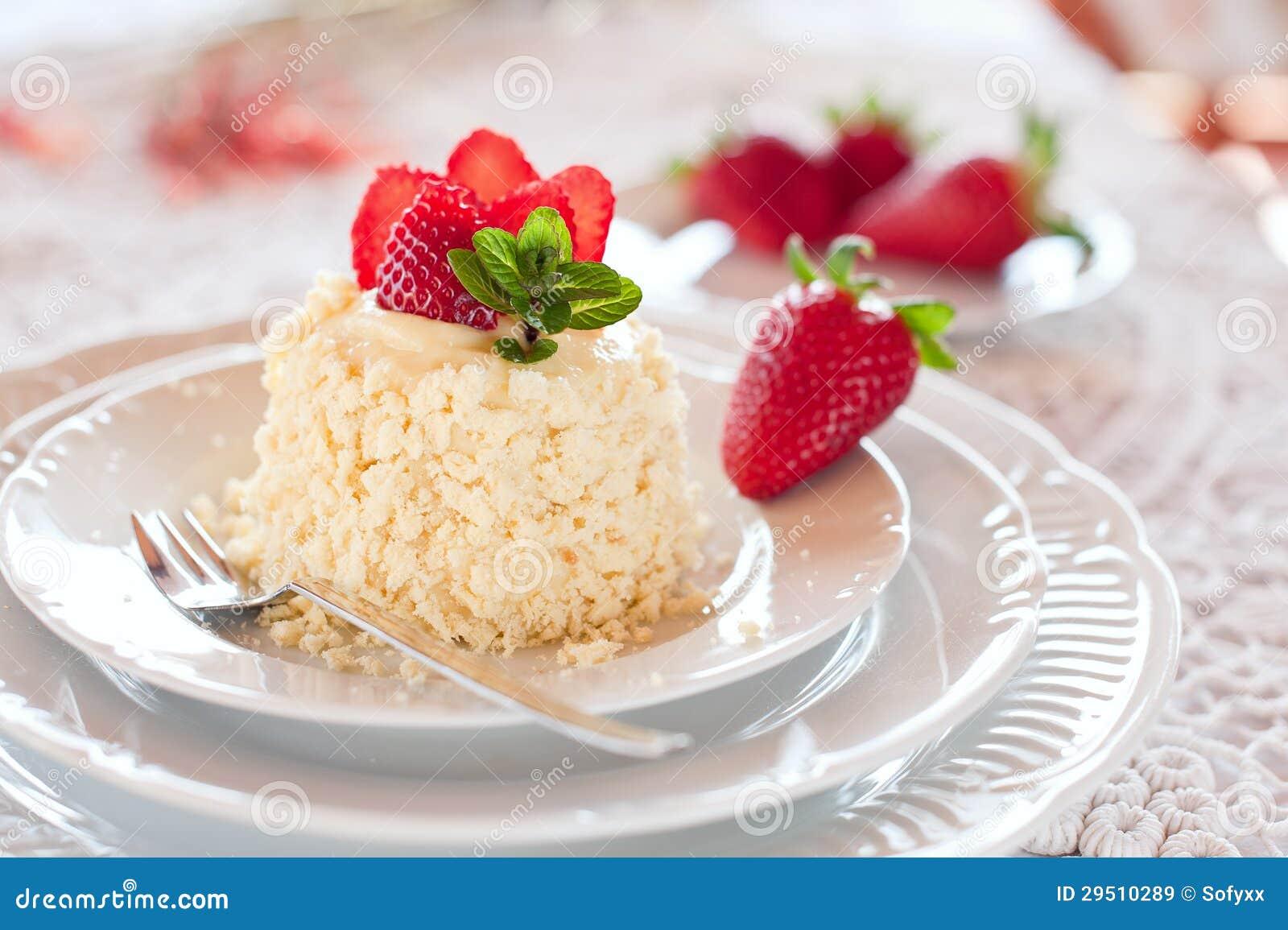 De cake van de aardbei