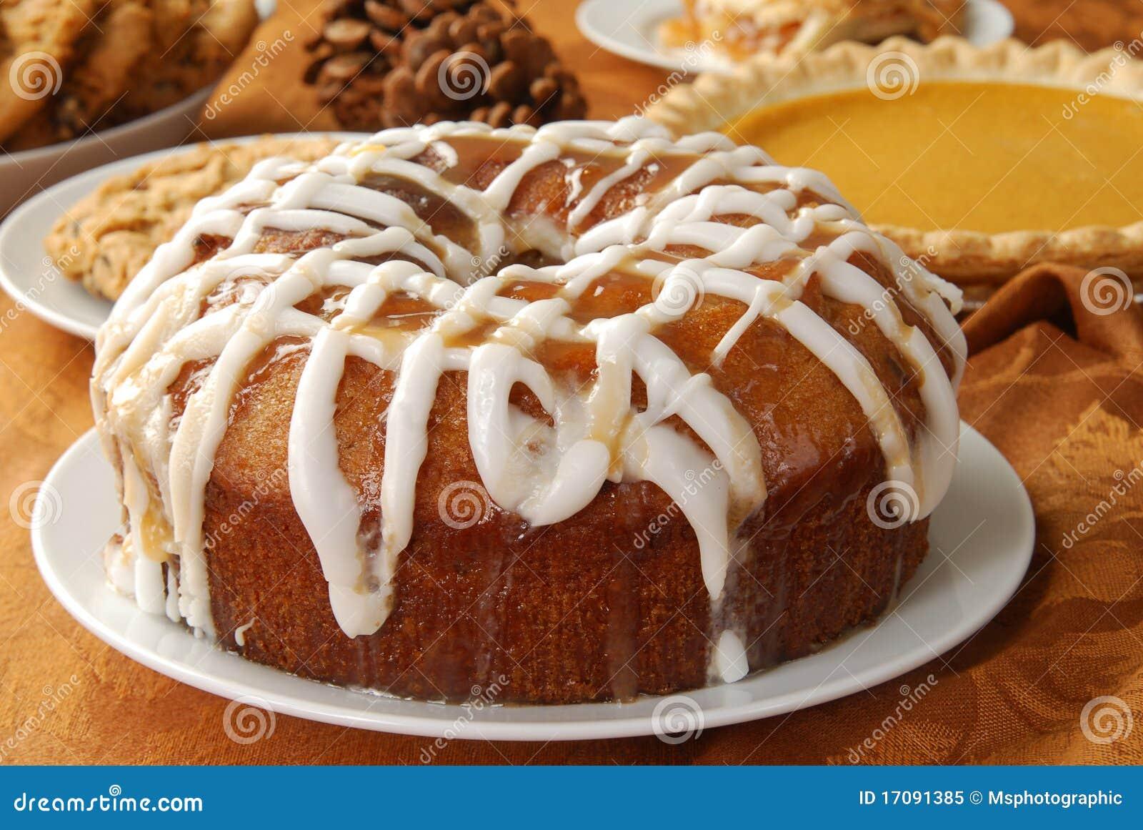 De cake van de appel bundt