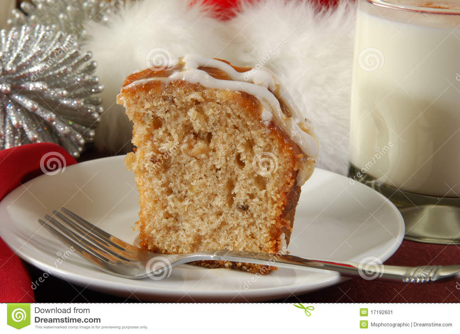 De cake van de appel bundt bij Kerstmis