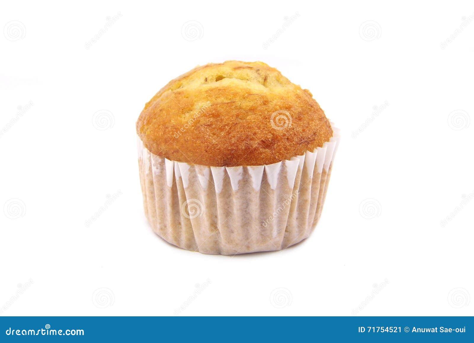 De cake van de banaankop of banaanmuffin